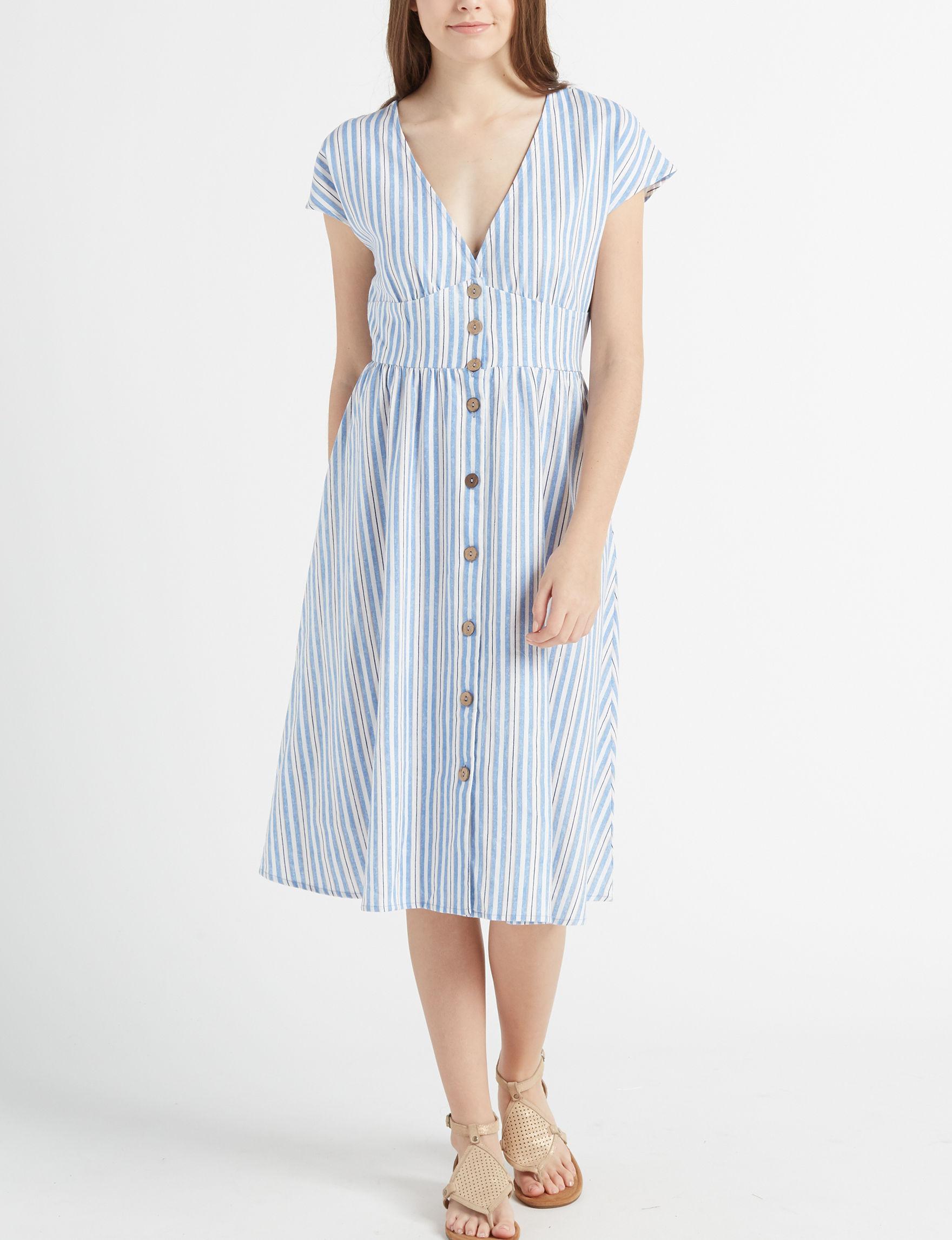 BeBop Beige Everyday & Casual Fit & Flare Dresses