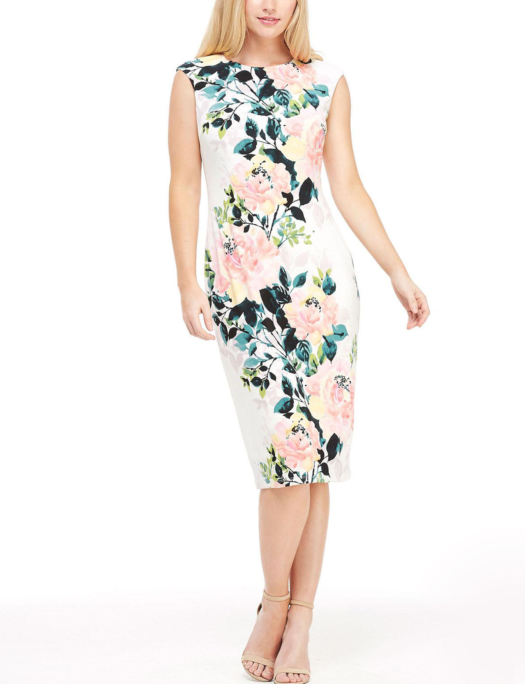 London Times White Everyday & Casual Sheath Dresses