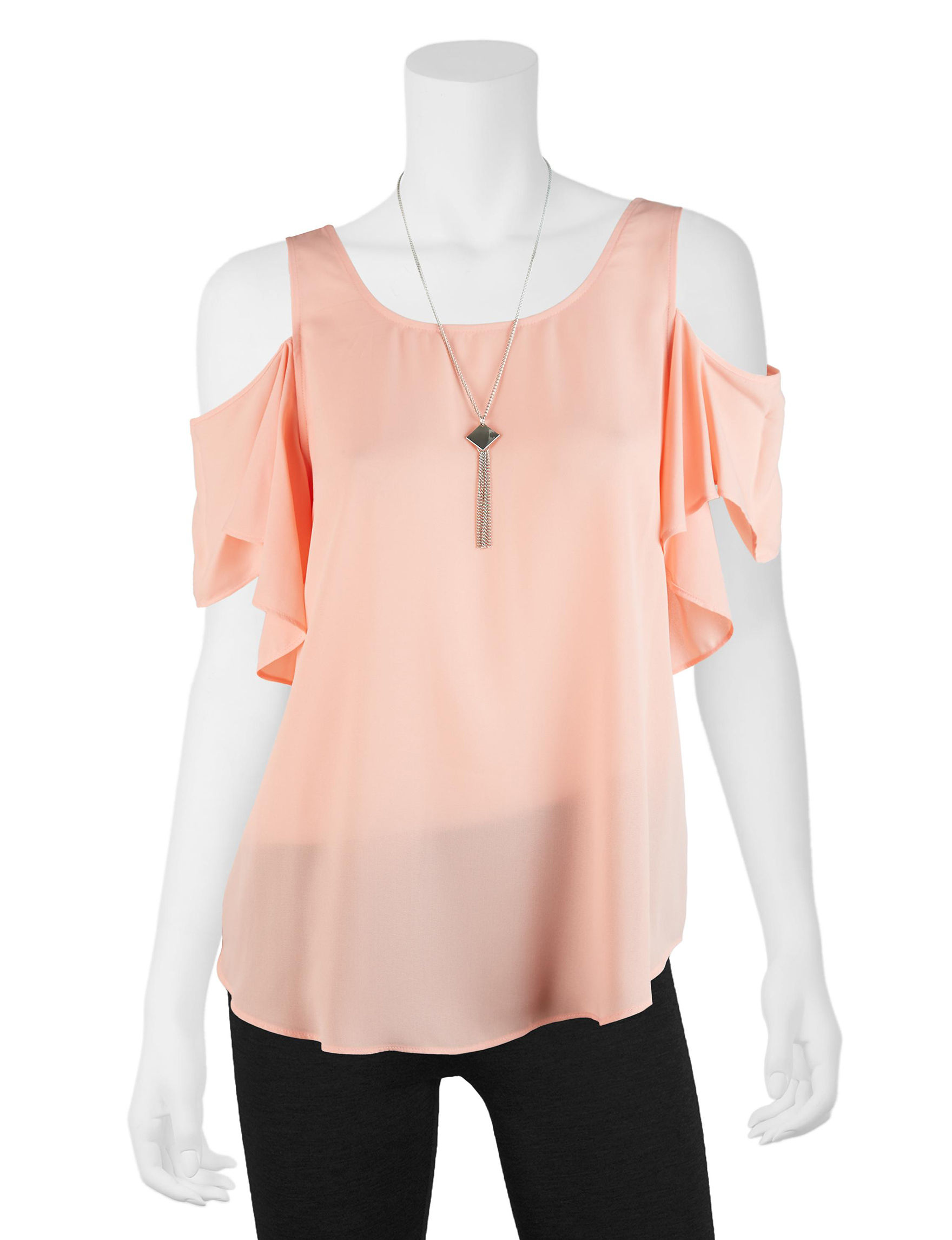 A. Byer Peach Shirts & Blouses