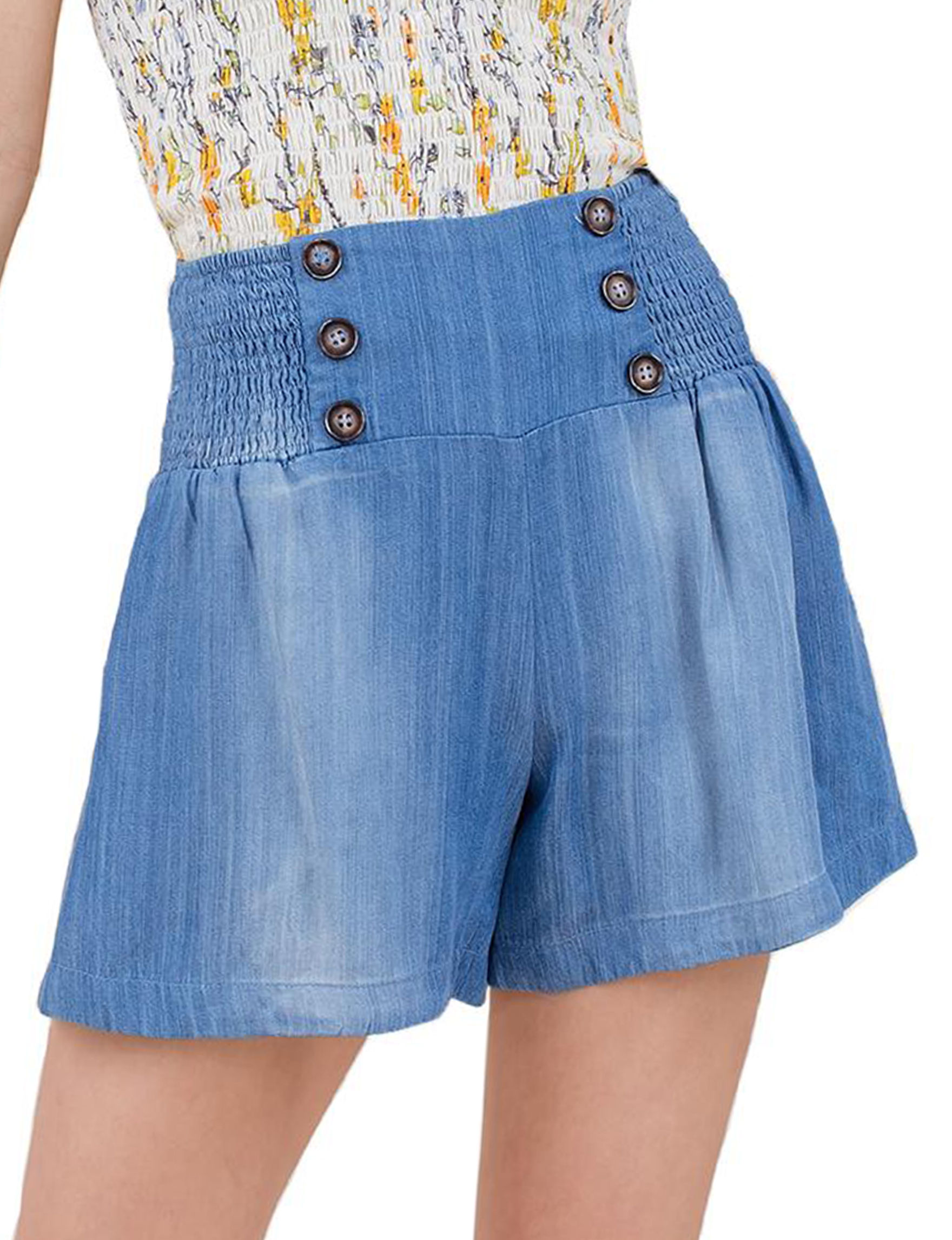 C + J Collections Blue Soft Shorts