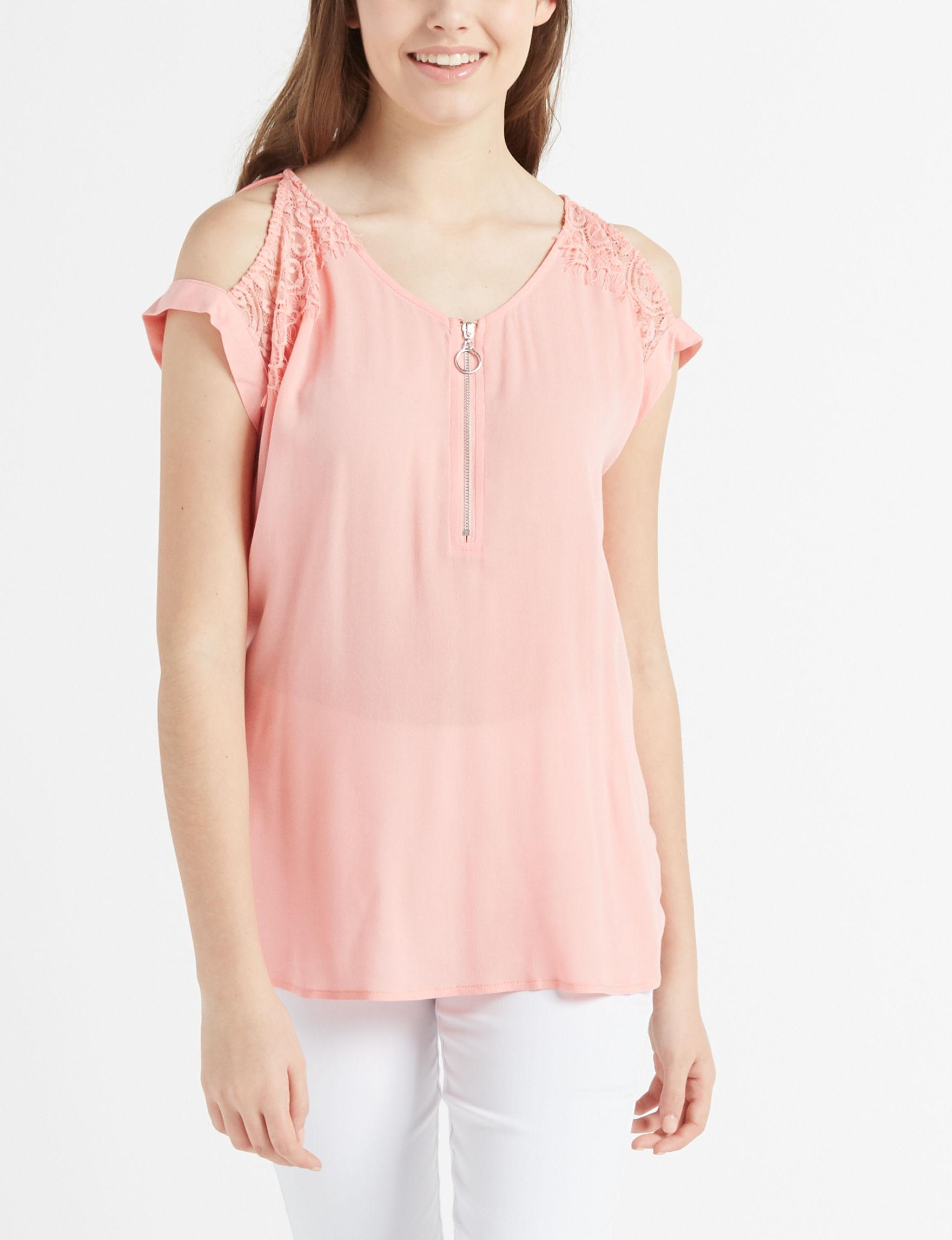 Leighton Coral Shirts & Blouses