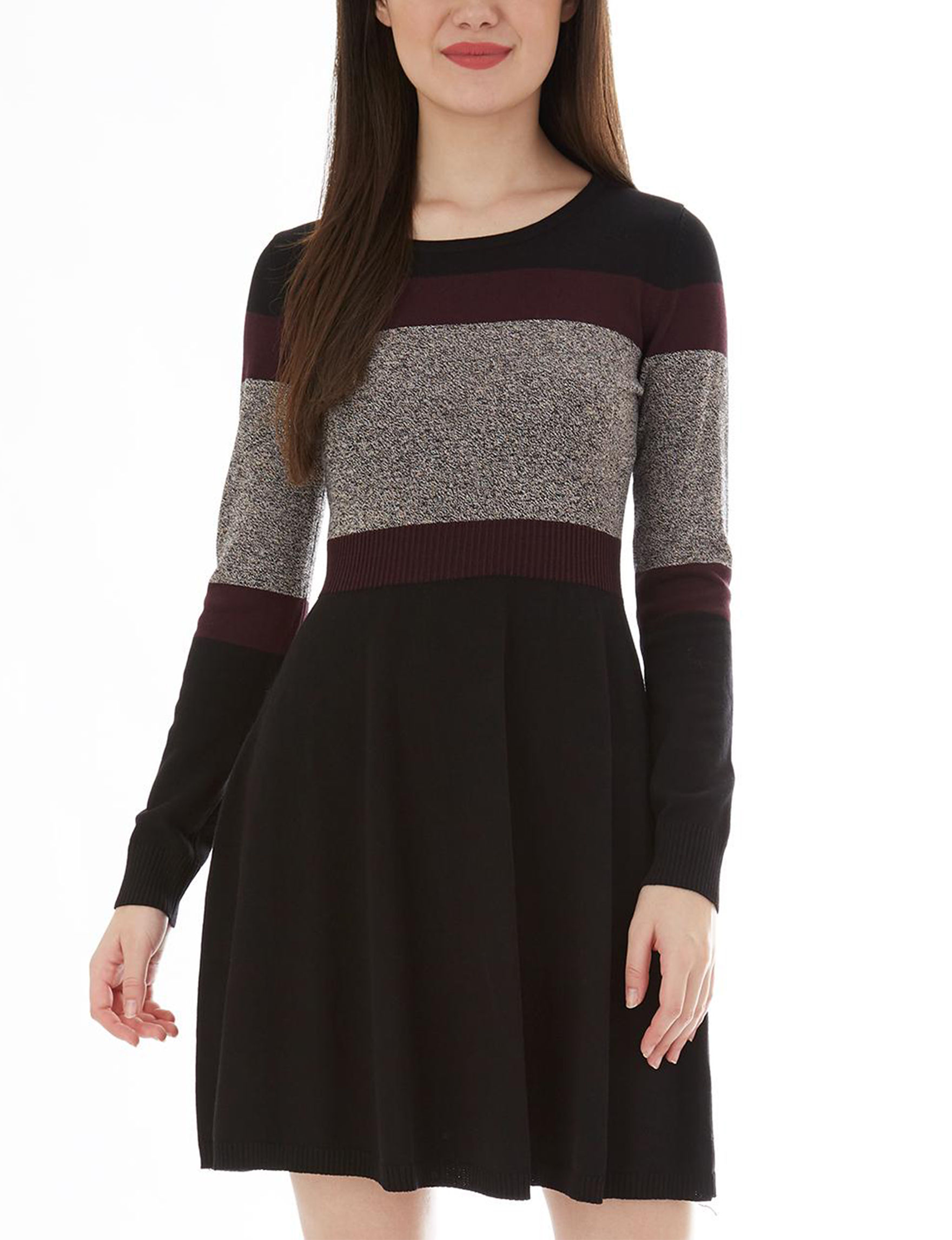 A. Byer Black Everyday & Casual Sweater Dresses