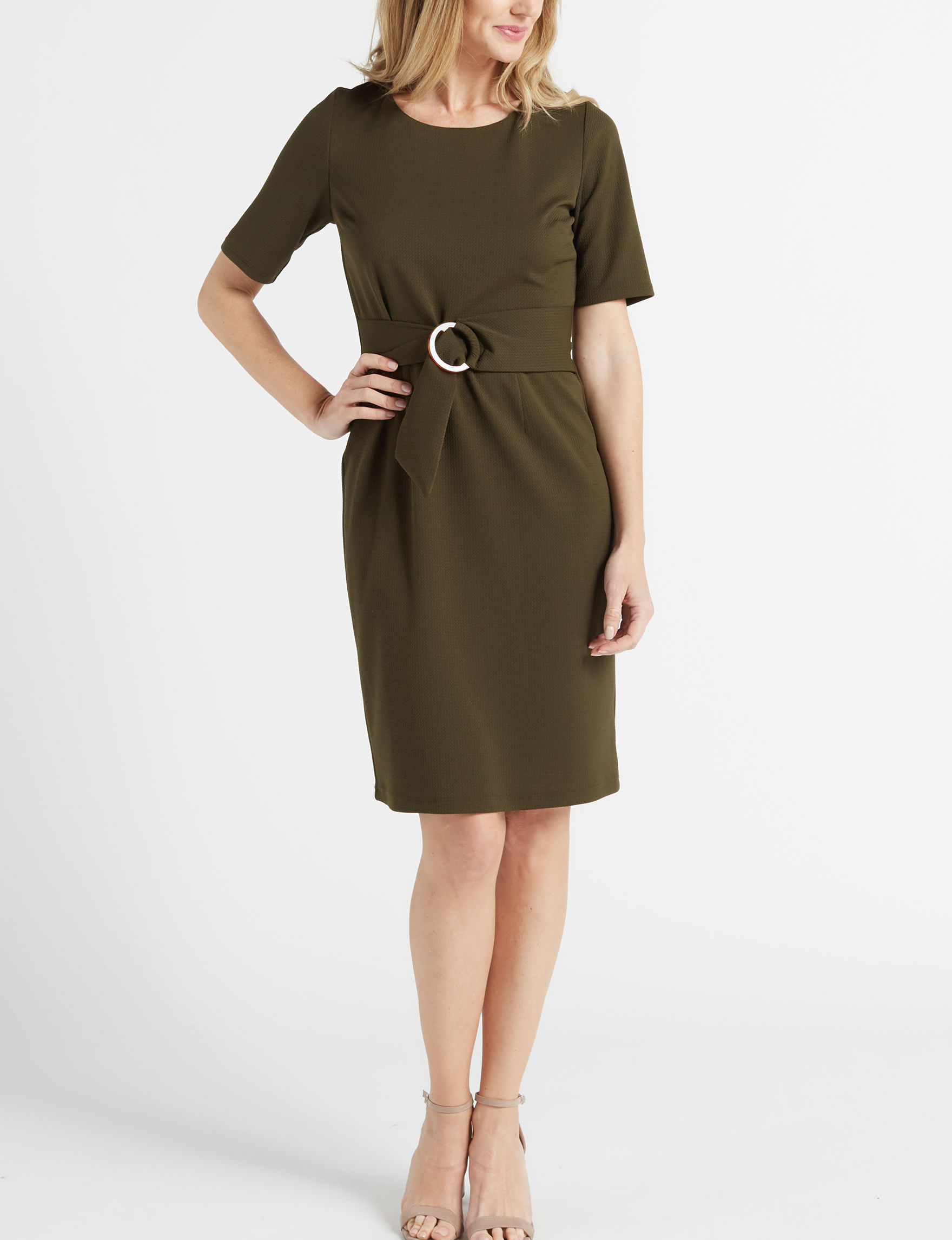 AGB Olive Everyday & Casual Sheath Dresses