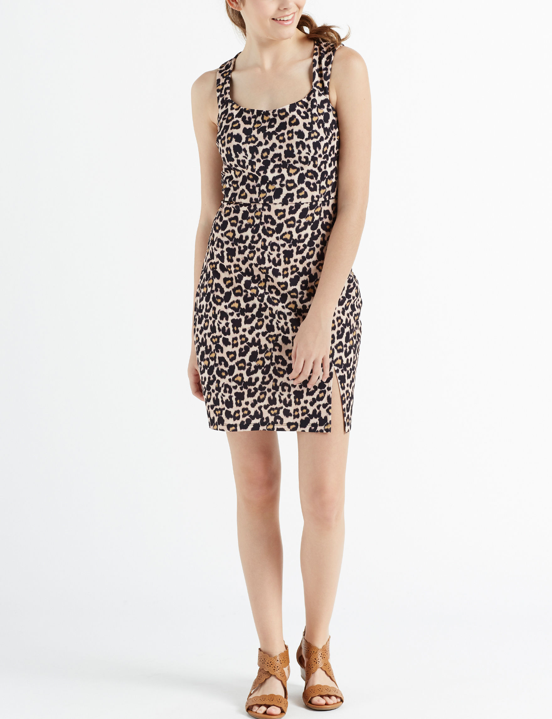 Sequin Hearts Leopard Cocktail & Party Bodycon Dresses