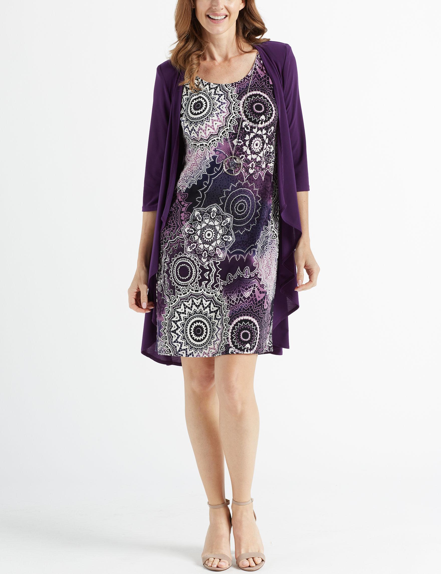 R & M Richards Purple Everyday & Casual Jacket Dresses