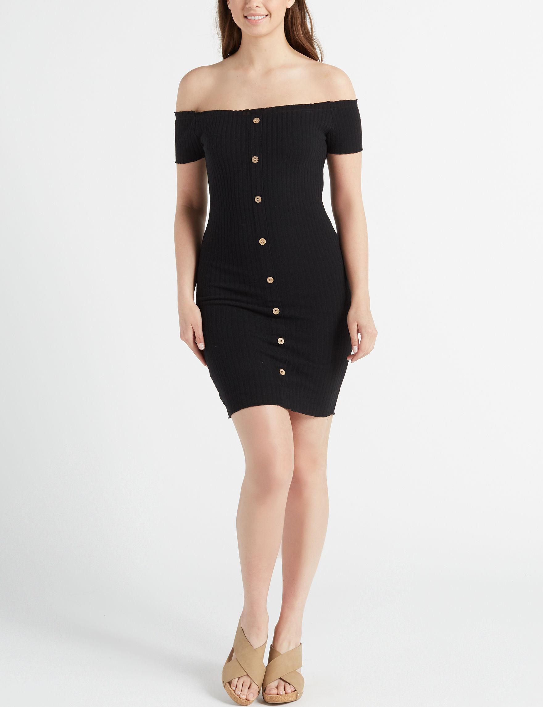 Wishful Park Black Everyday & Casual Bodycon Dresses