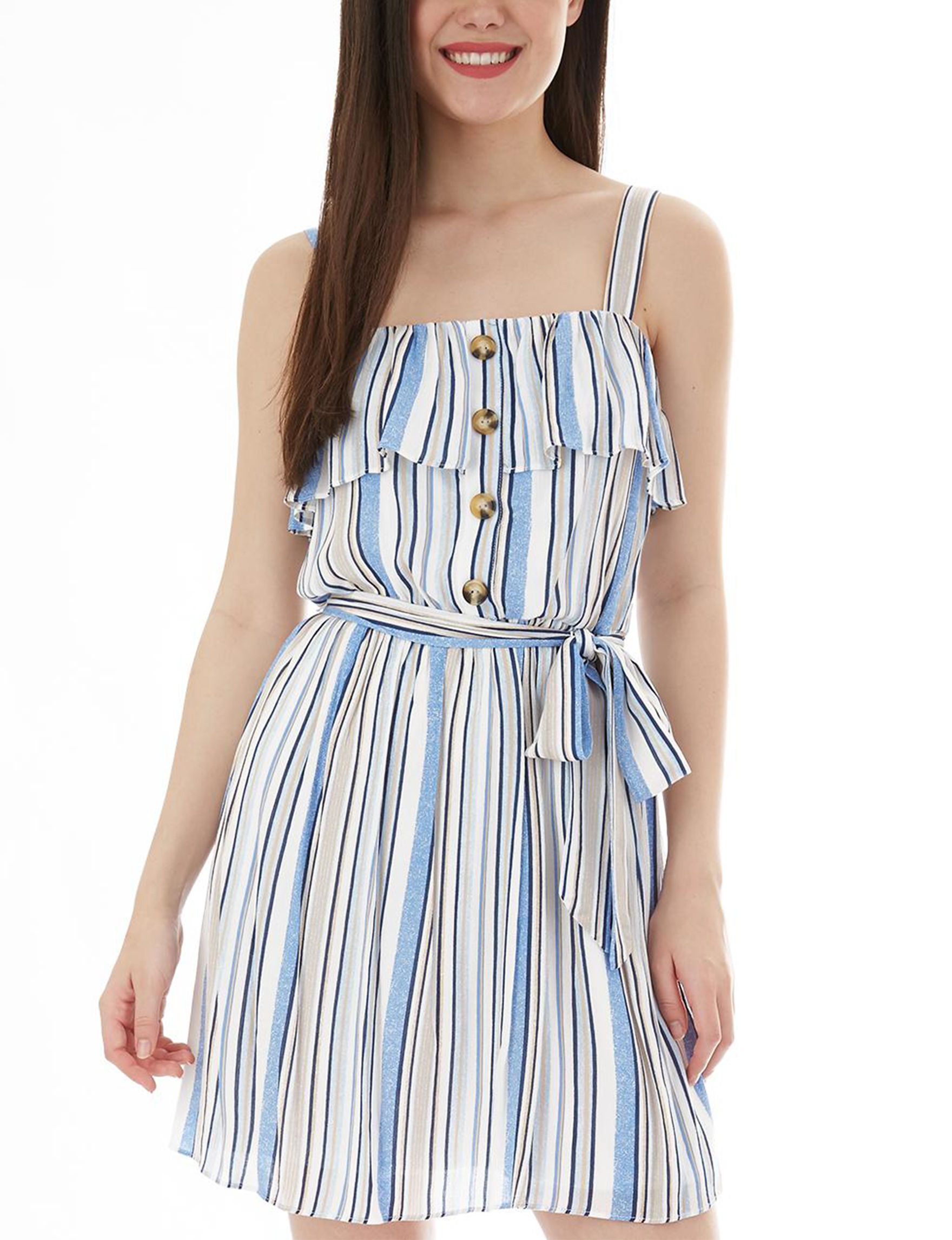A. Byer White Everyday & Casual Fit & Flare Dresses