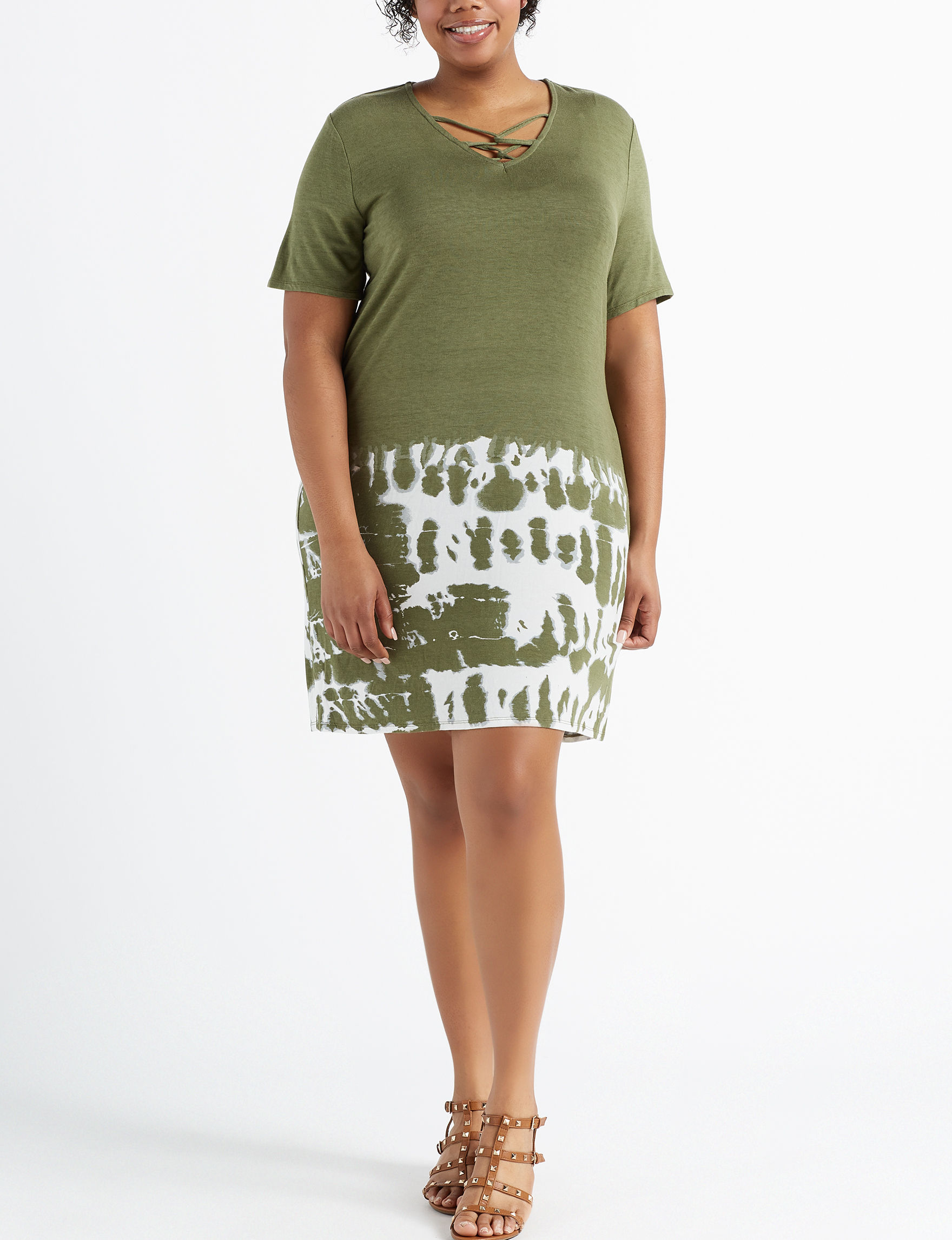 Wishful Park Olive Everyday & Casual Shift Dresses