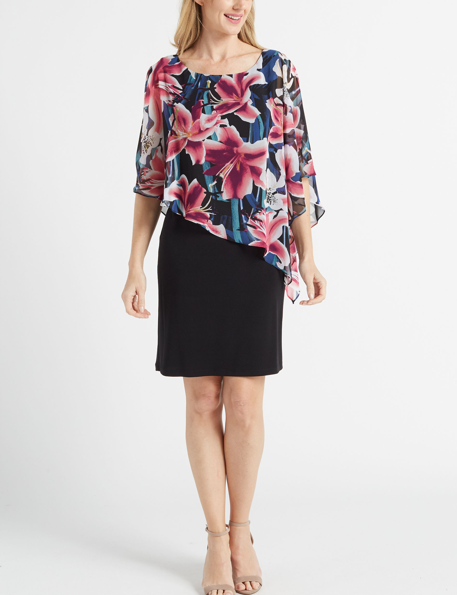 Connected Black Multi Everyday & Casual Jacket Dresses