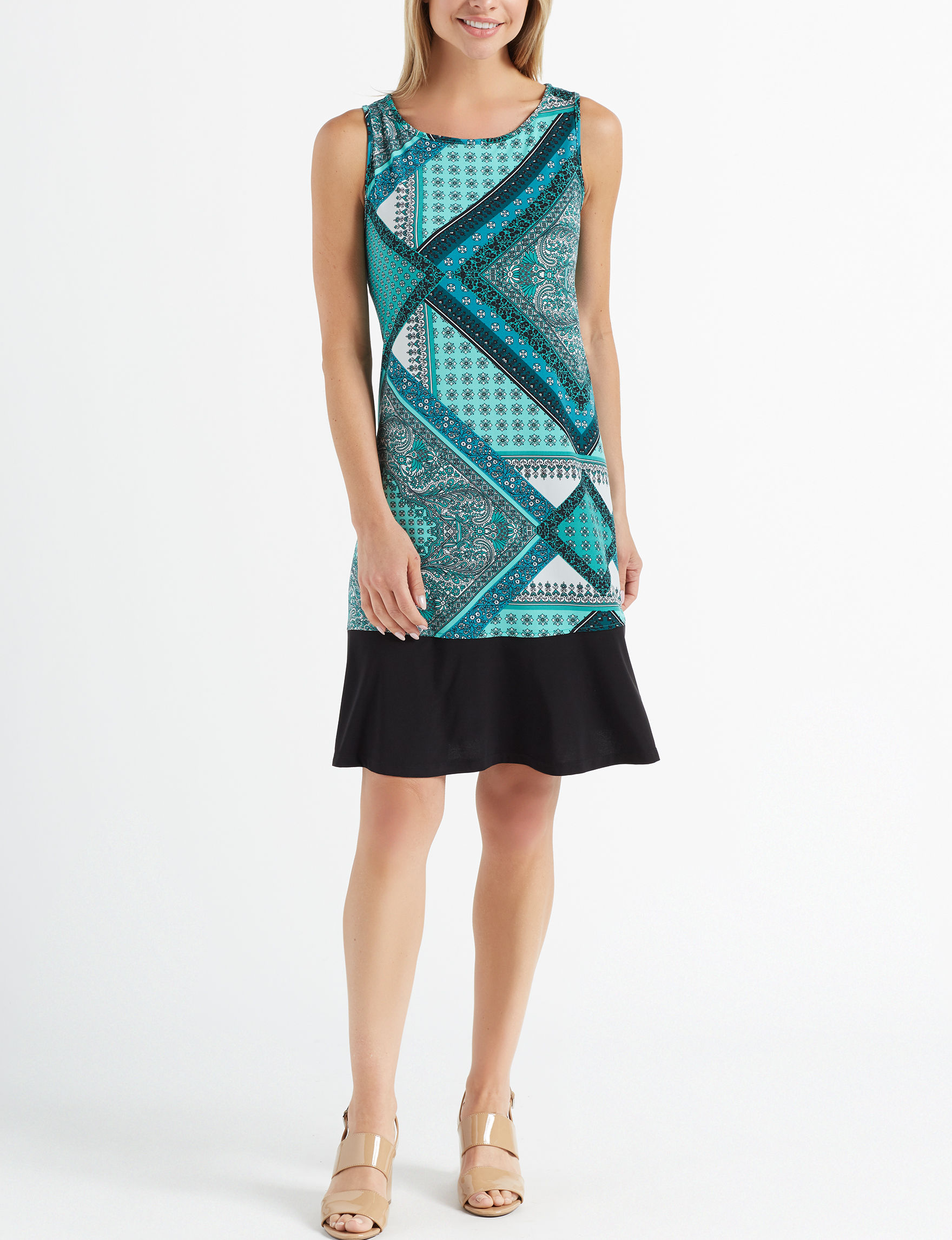Ronni Nicole Teal Everyday & Casual Shift Dresses