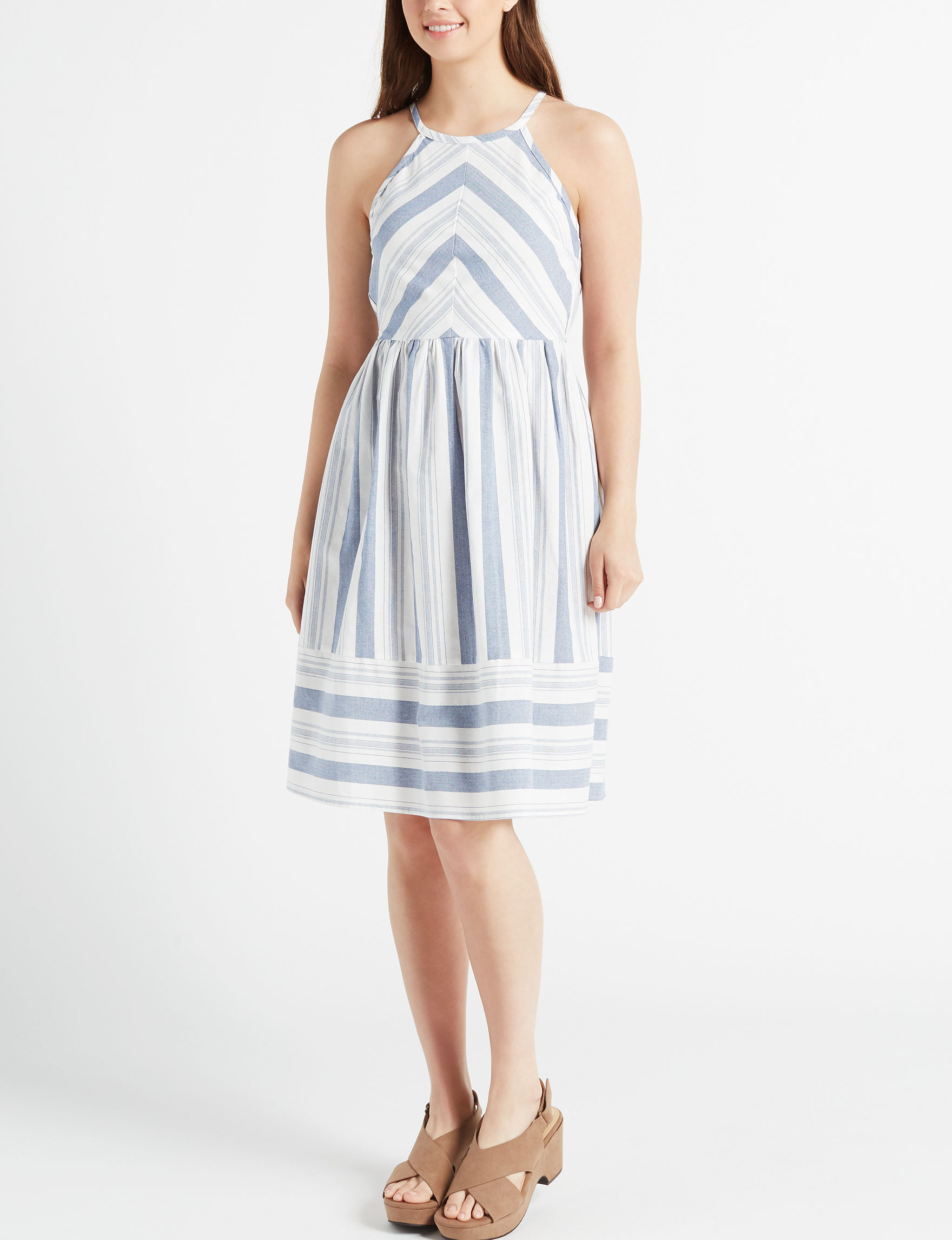 Bailey Blue Ivory/Blue Everyday & Casual Halter