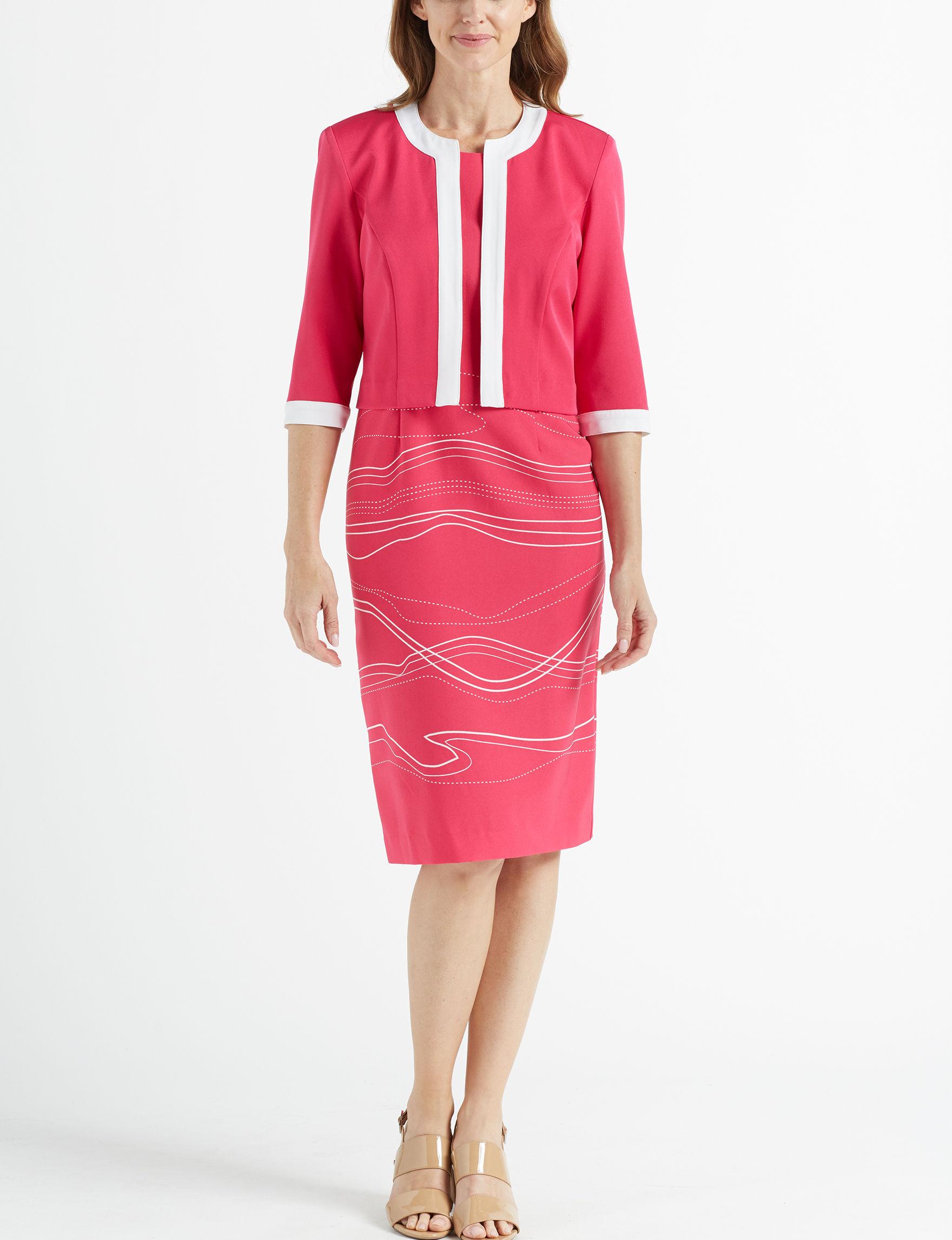 Maya Brooke Fuschia Everyday & Casual Jacket Dresses