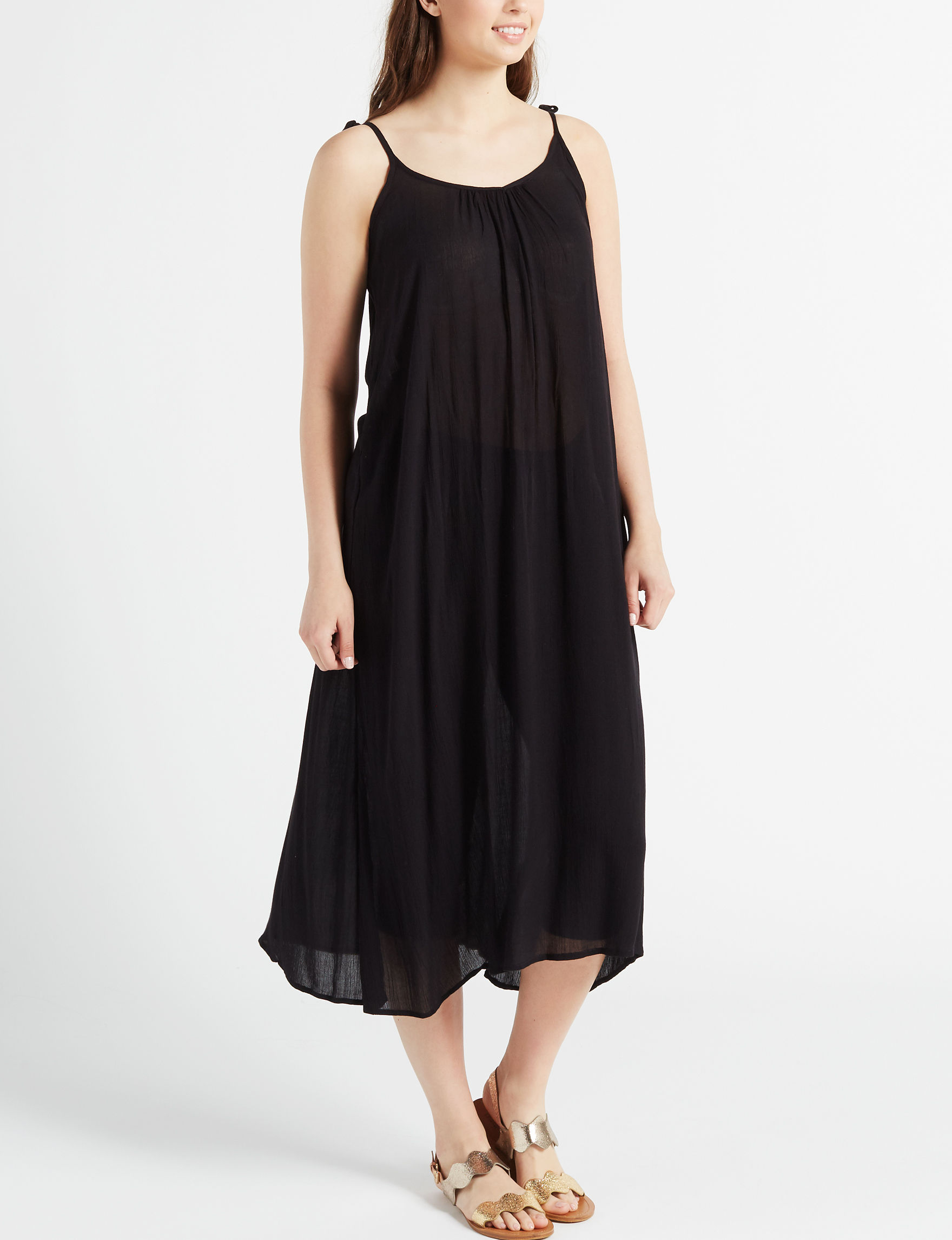 Poof Black Everyday & Casual Maxi Dresses