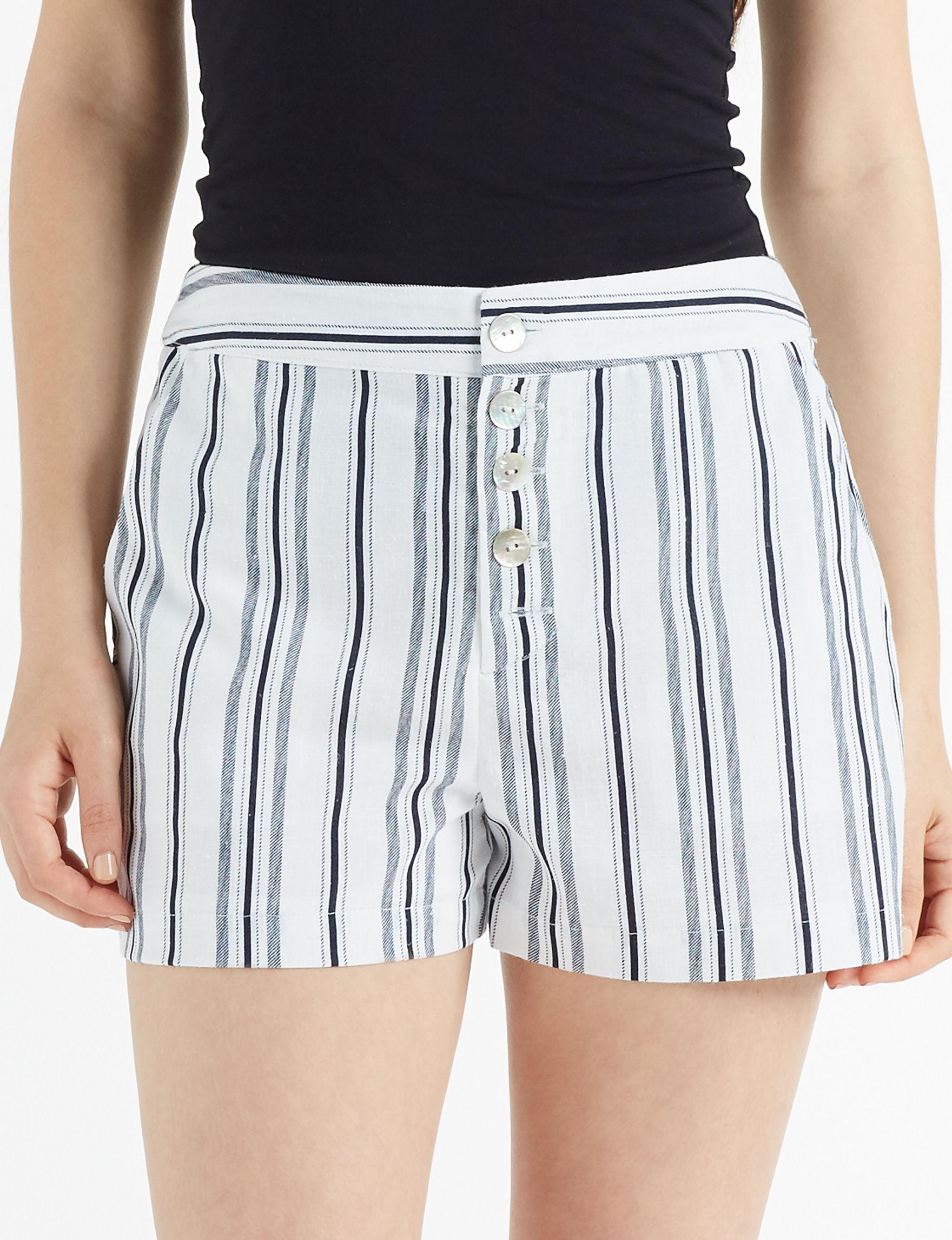 Charmed Hearts White Soft Shorts