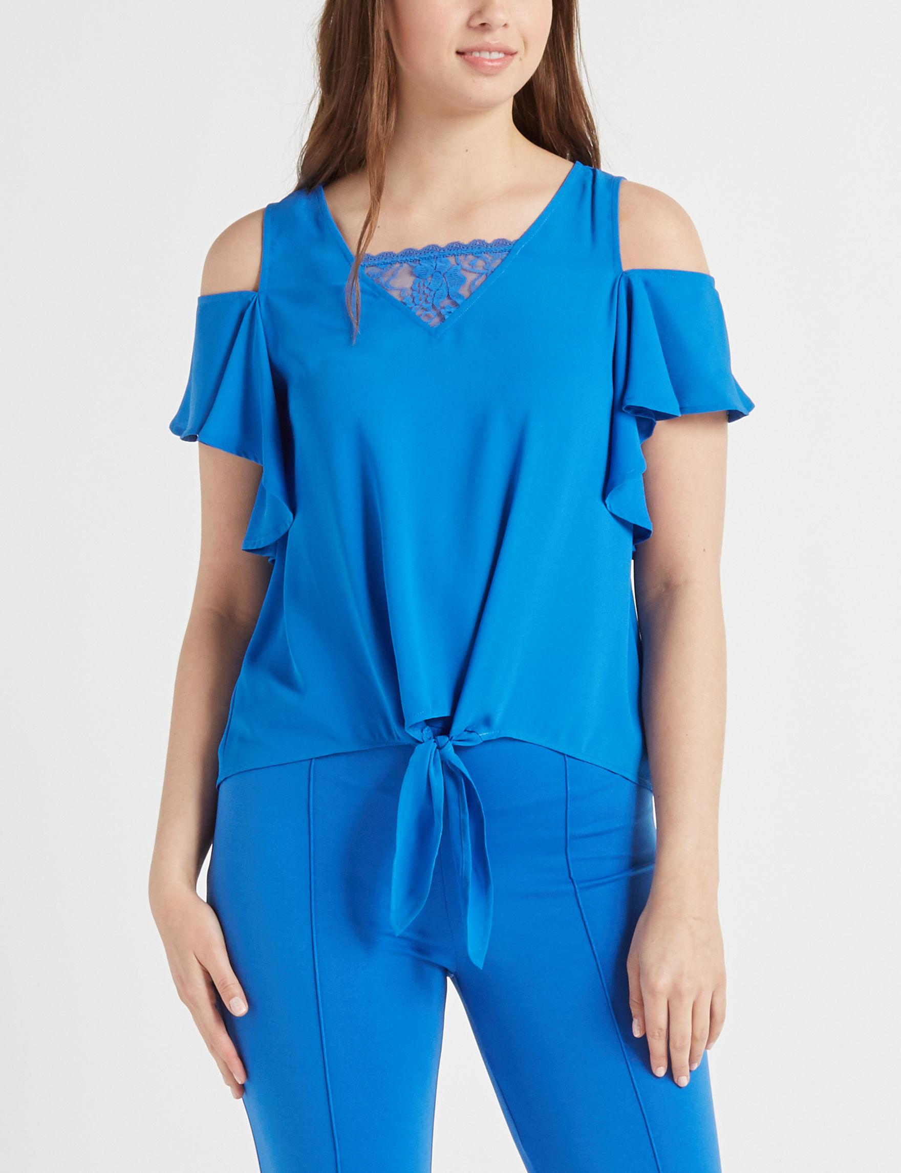 XOXO Royal Blue Shirts & Blouses