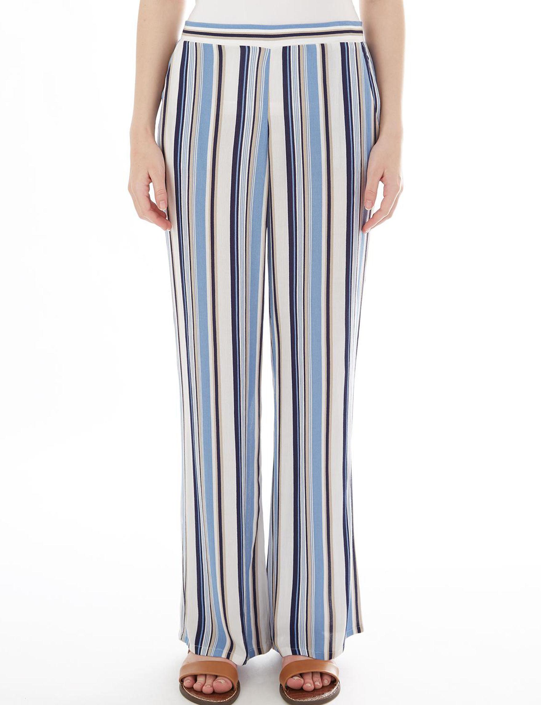 A. Byer White / Blue Soft Pants