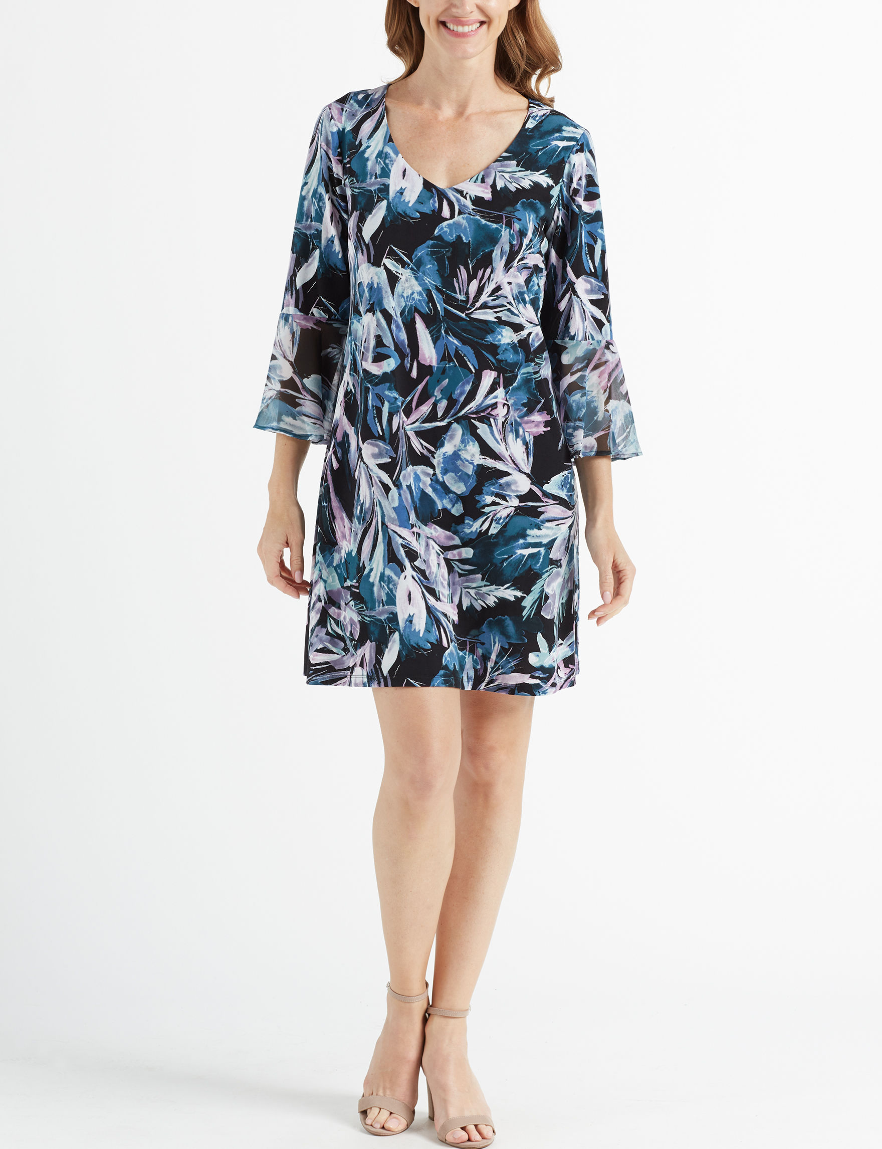 Connected Blue Everyday & Casual Shift Dresses
