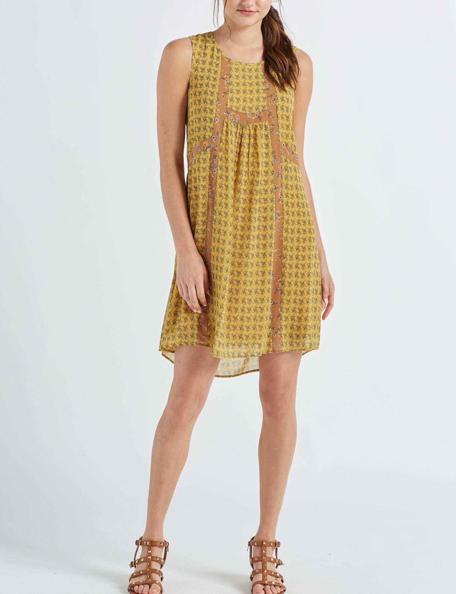 Signature Studio Mustard Everyday & Casual Shift Dresses