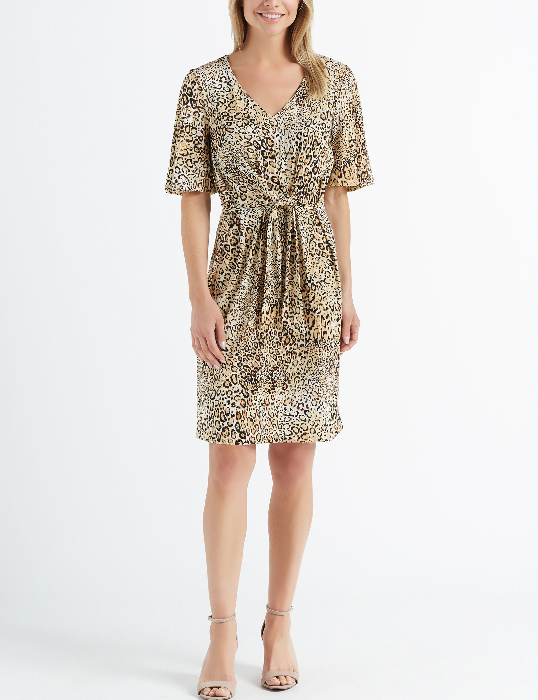 Sharagano Brown Everyday & Casual A-line Dresses