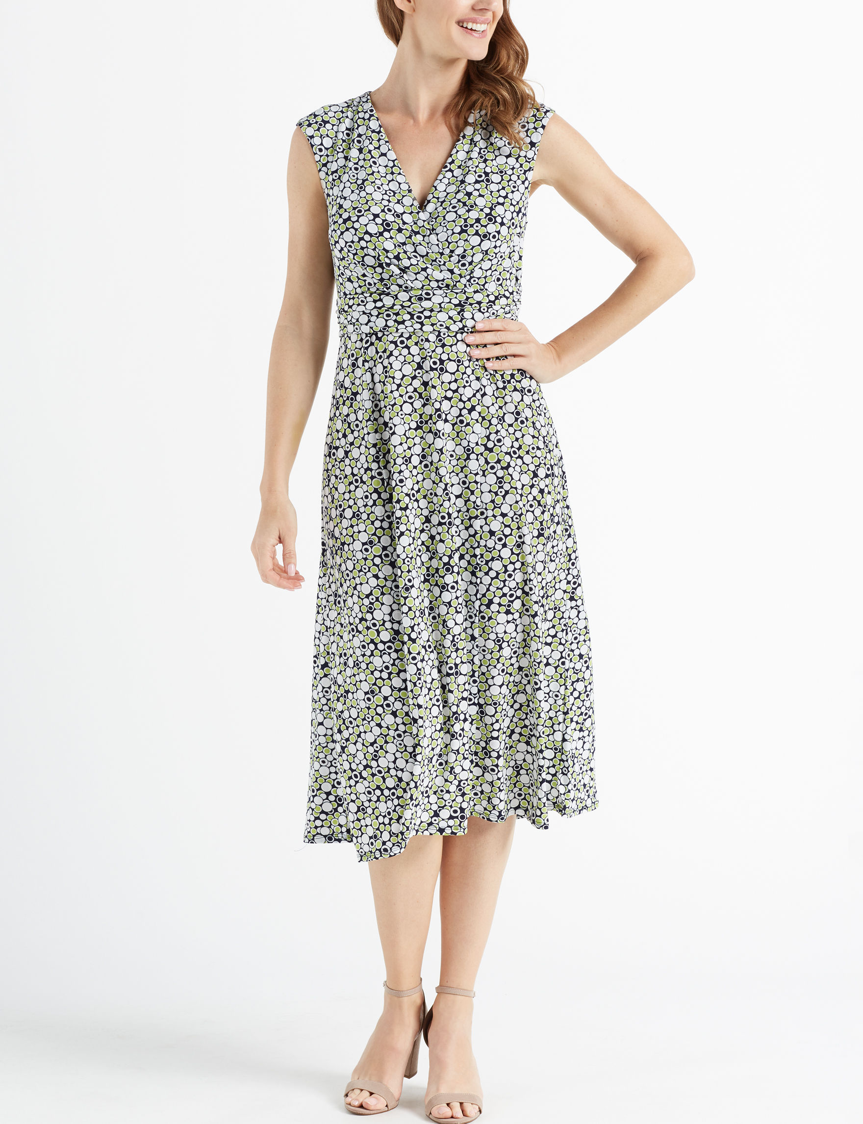 Perceptions Navy / Green Everyday & Casual A-line Dresses
