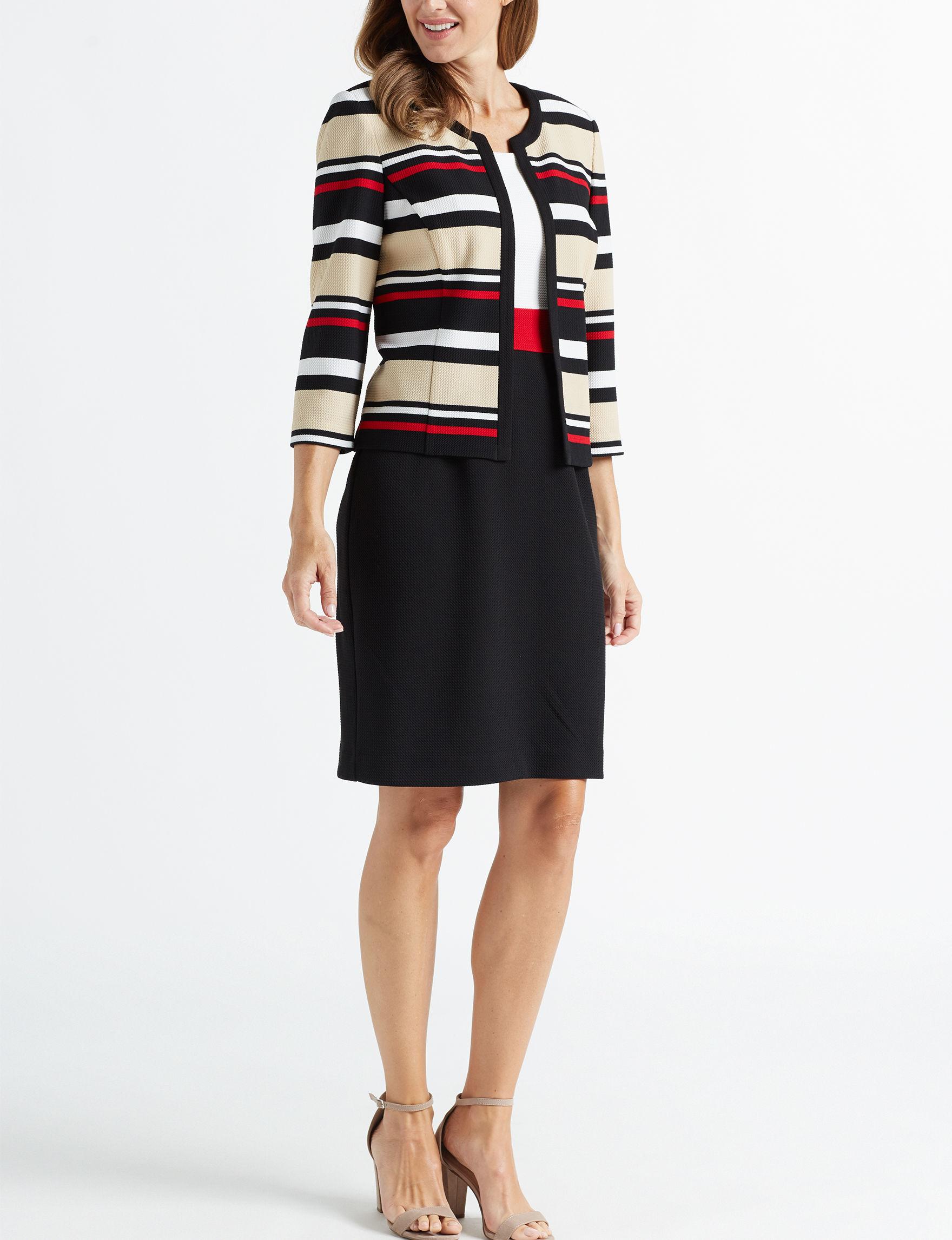 Sandra Darren Black Multi Everyday & Casual Jacket Dresses