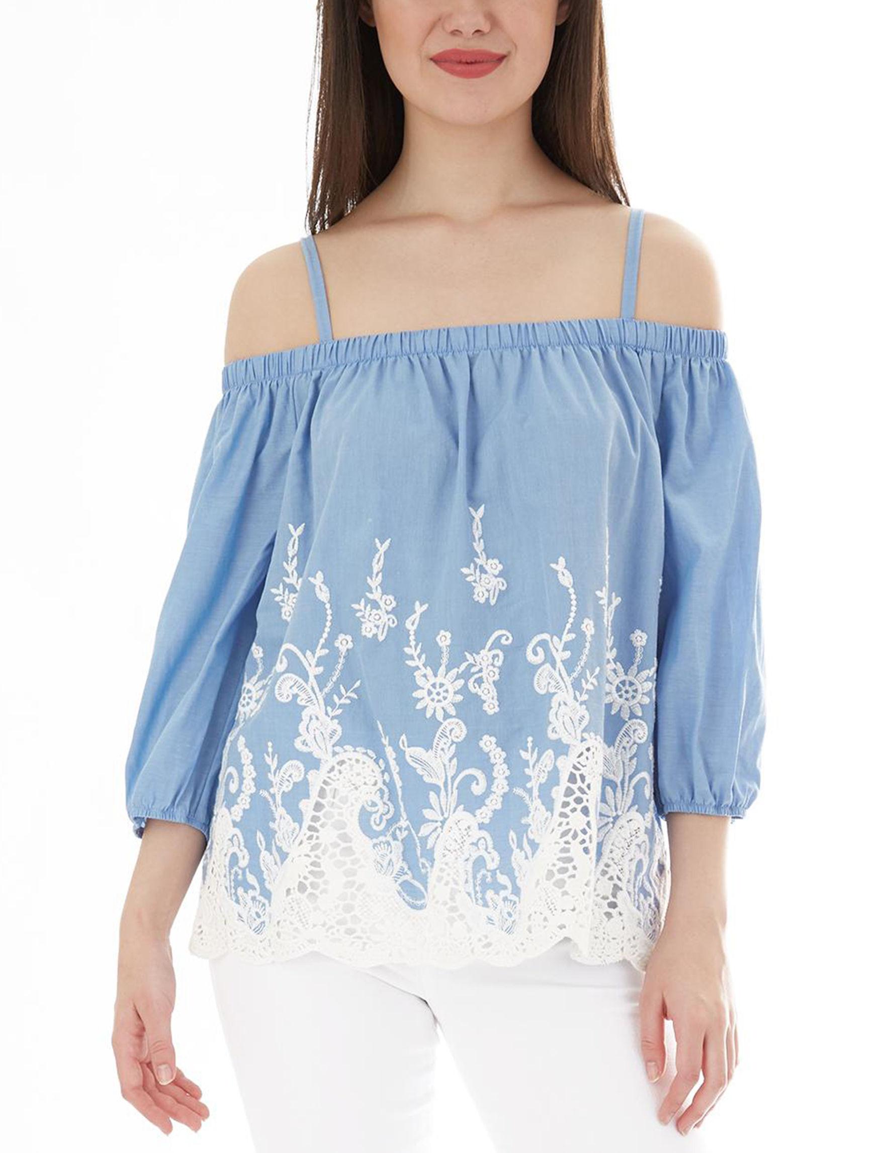 A. Byer Denim Blue Shirts & Blouses