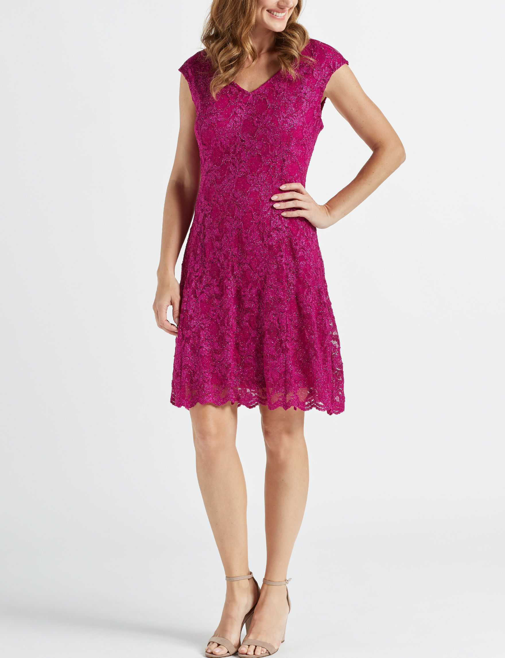 Ronni Nicole Magenta Cocktail & Party Evening & Formal A-line Dresses