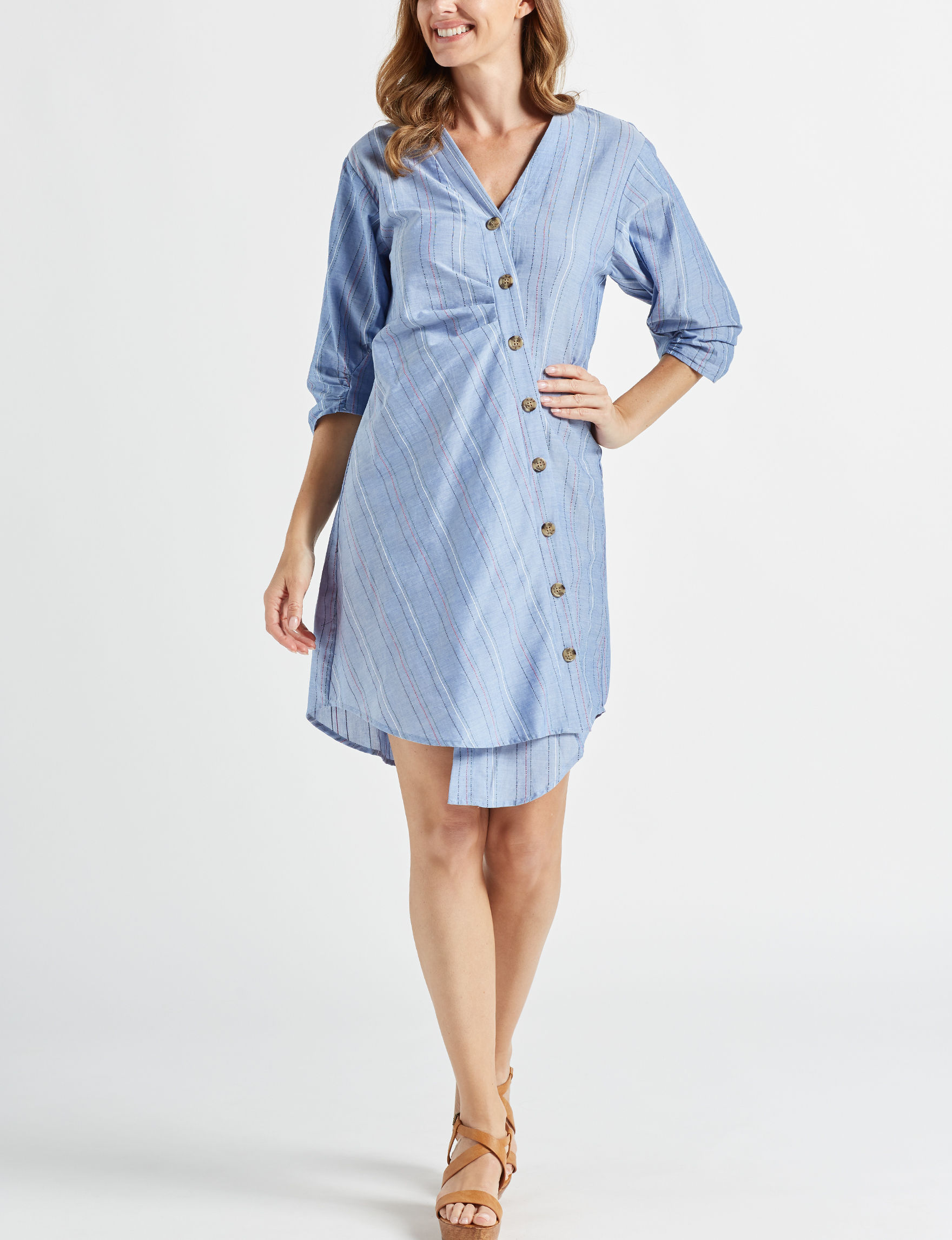 Beige by ECI Blue Everyday & Casual Shift Dresses