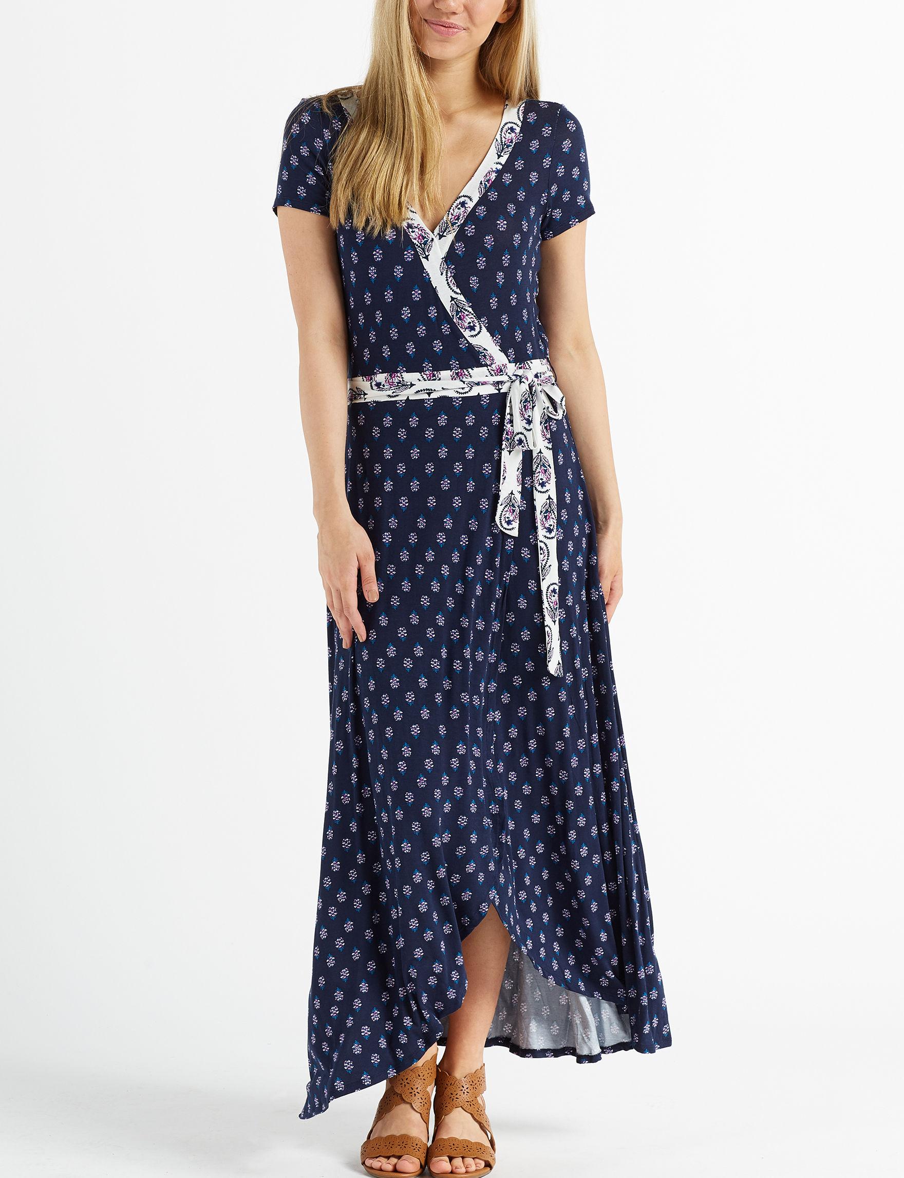 c8d43c6a5bb3 Heart Soul Juniors' Mixed Floral Faux Wrap Maxi Dress | Stage Stores
