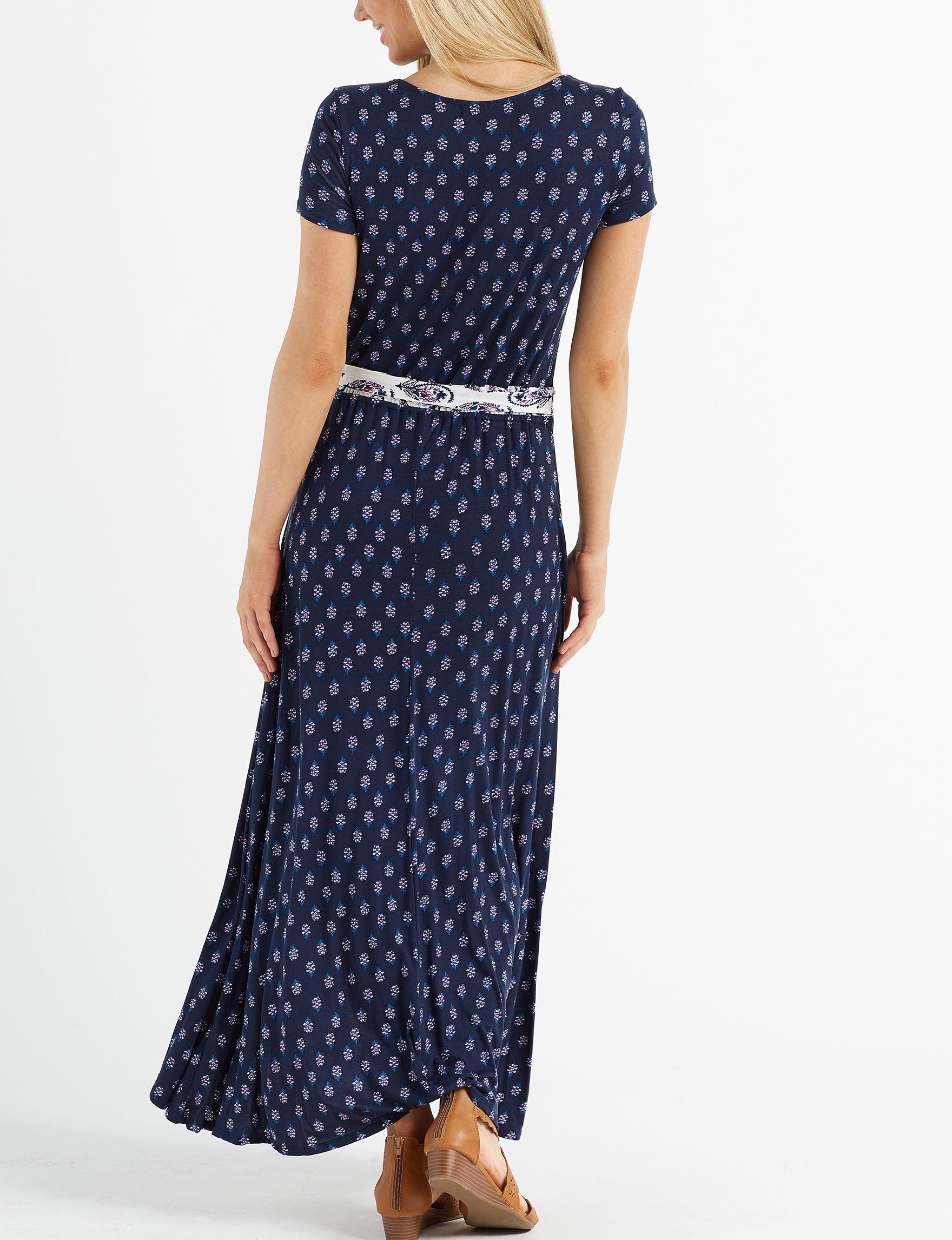 3358242c70a Heart Soul Juniors  Mixed Floral Faux Wrap Maxi Dress