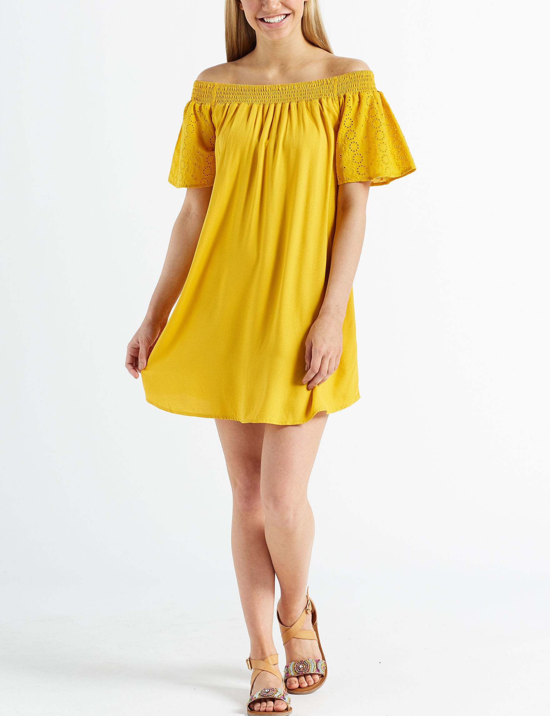 Love Fire Golden Rod Everyday & Casual Shift Dresses