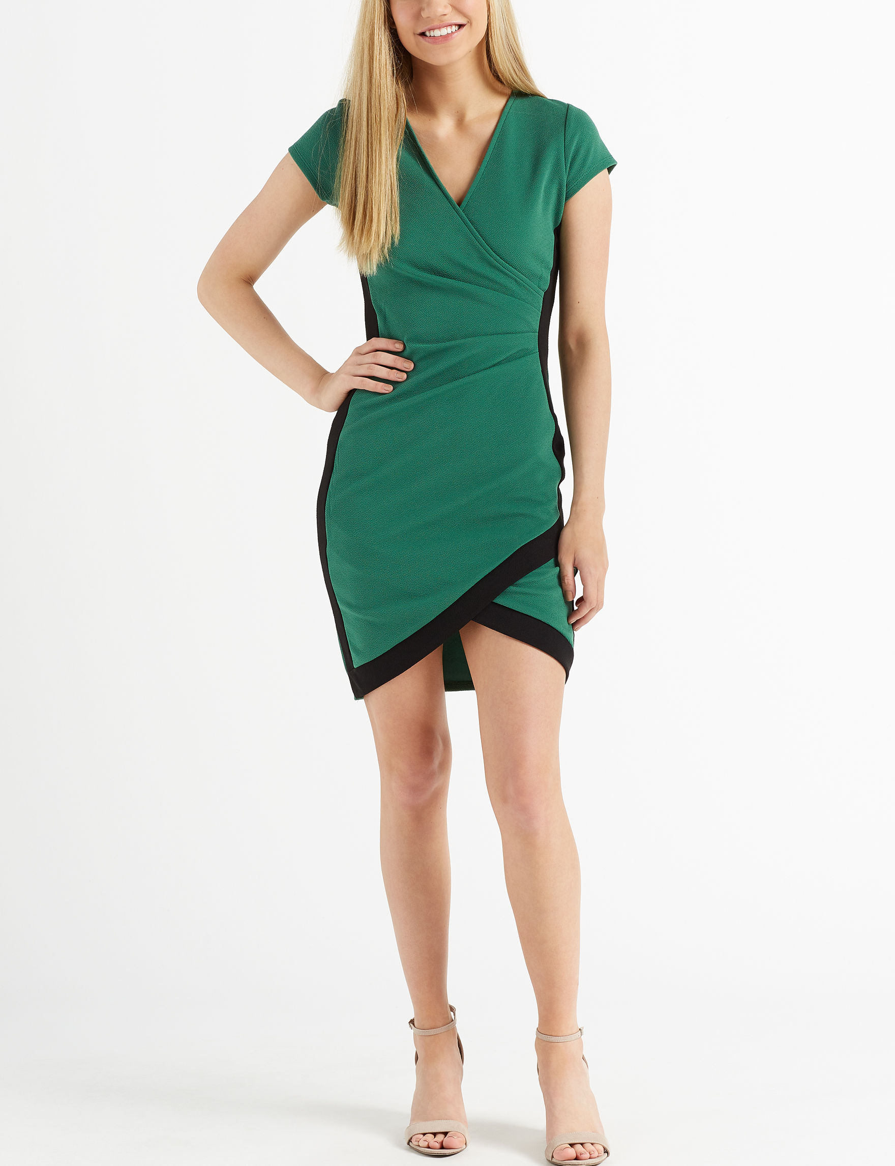 Almost Famous Green / Black Bodycon Dresses