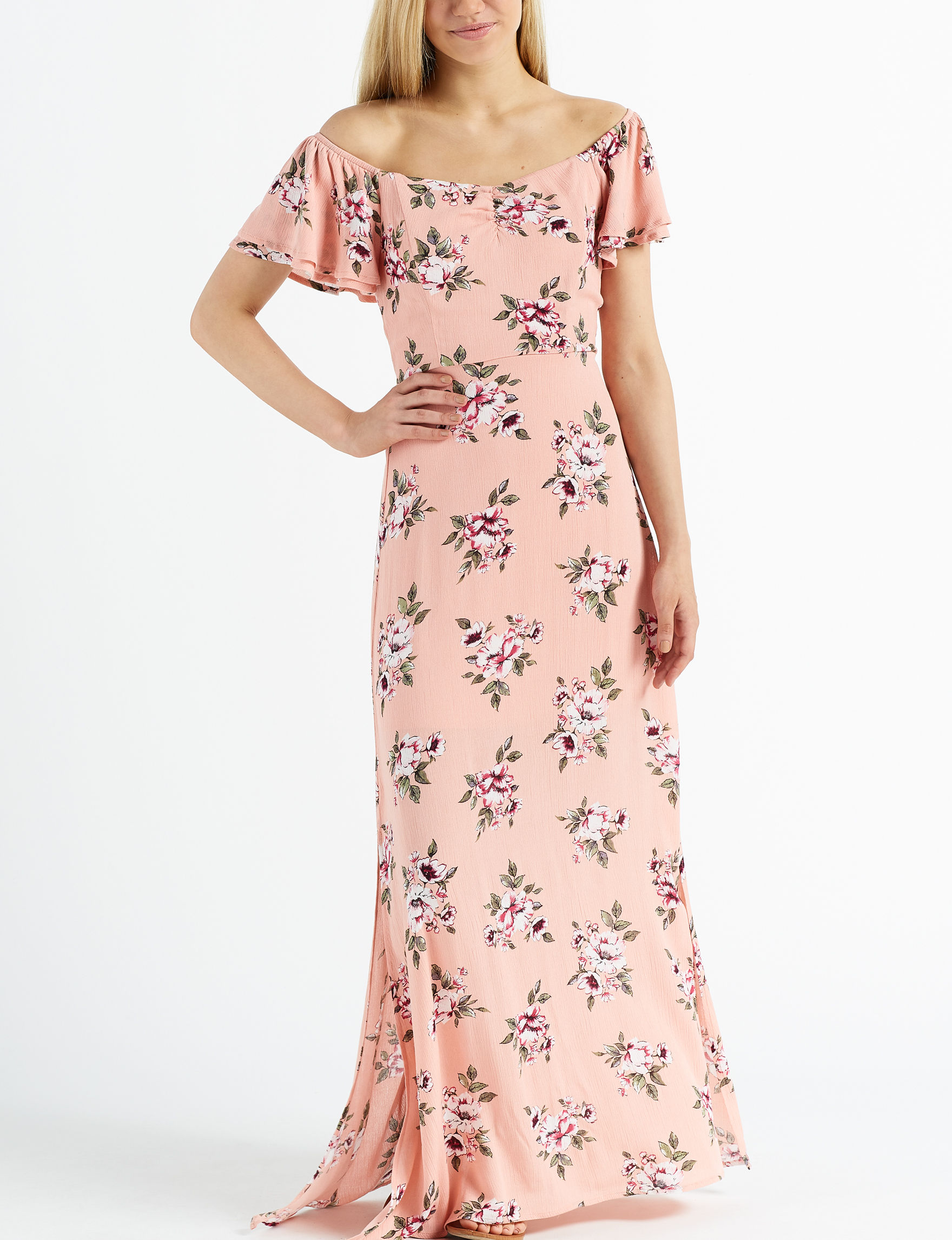 Trixxi Pink Floral Everyday & Casual Maxi Dresses
