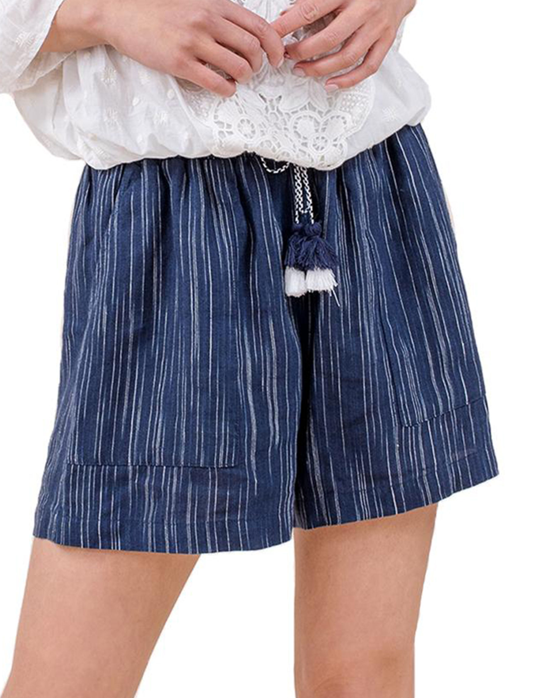 C + J Collections Navy Soft Shorts