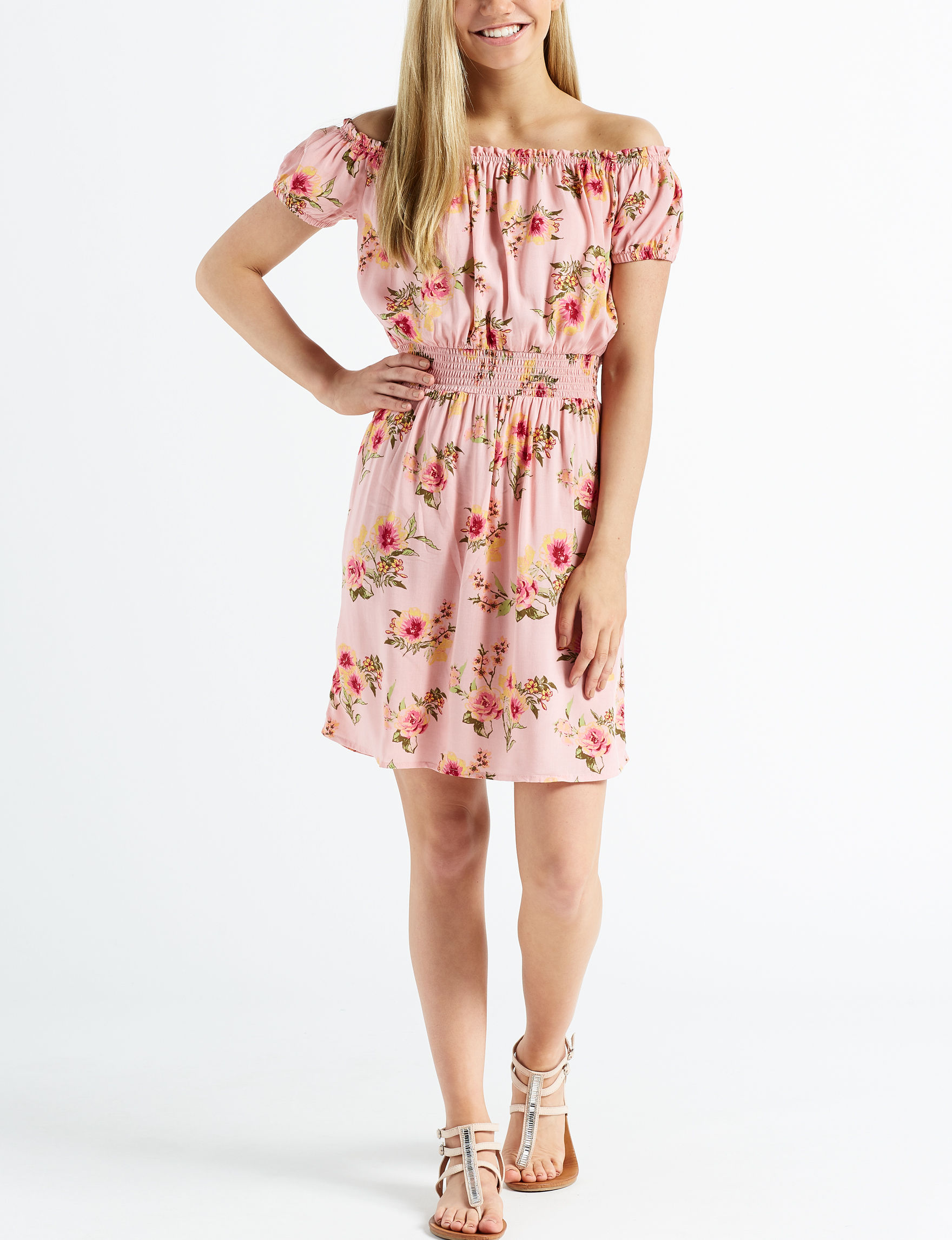 Wishful Park Pink Floral Everyday & Casual Fit & Flare Dresses