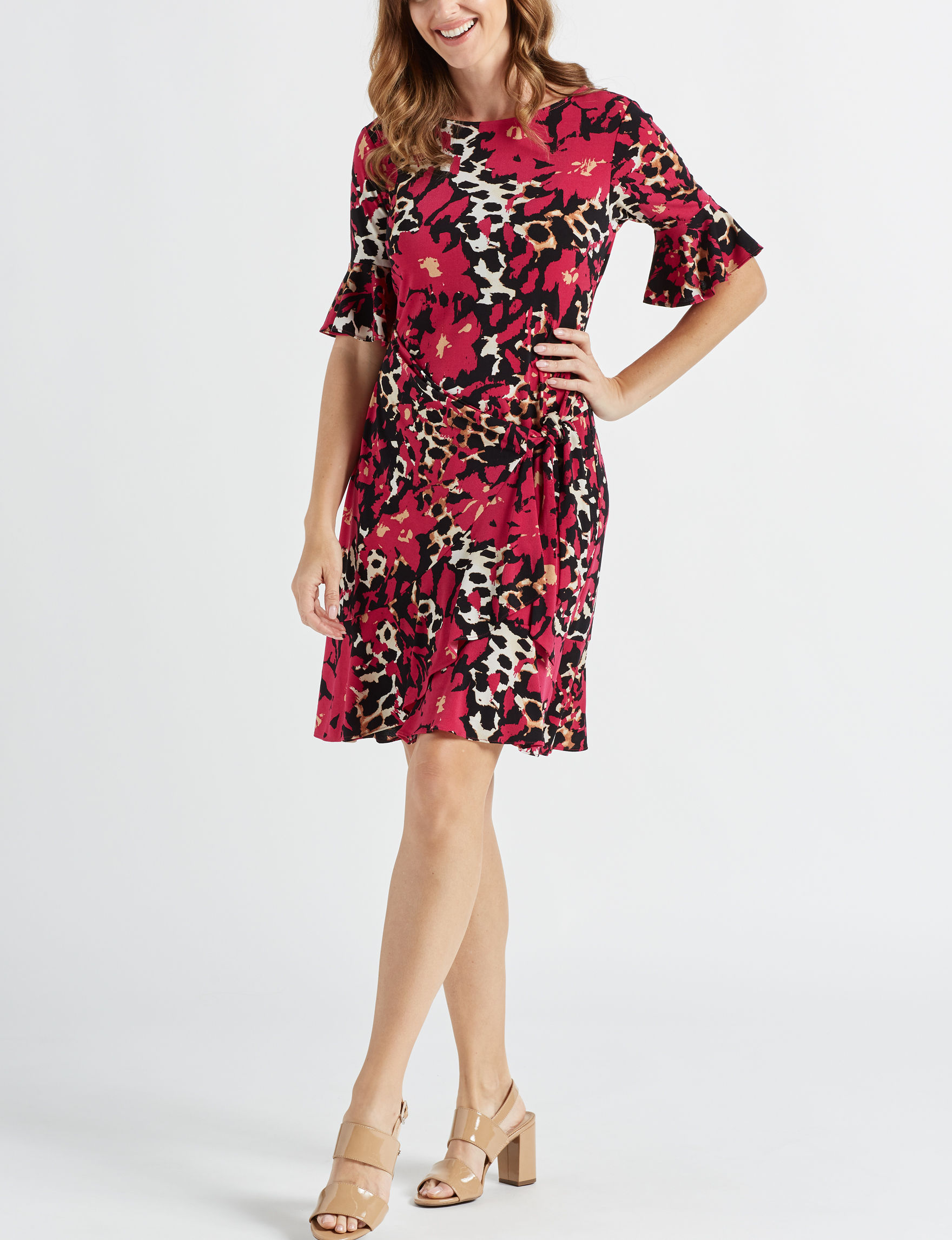 Beige by ECI Red Everyday & Casual Sheath Dresses