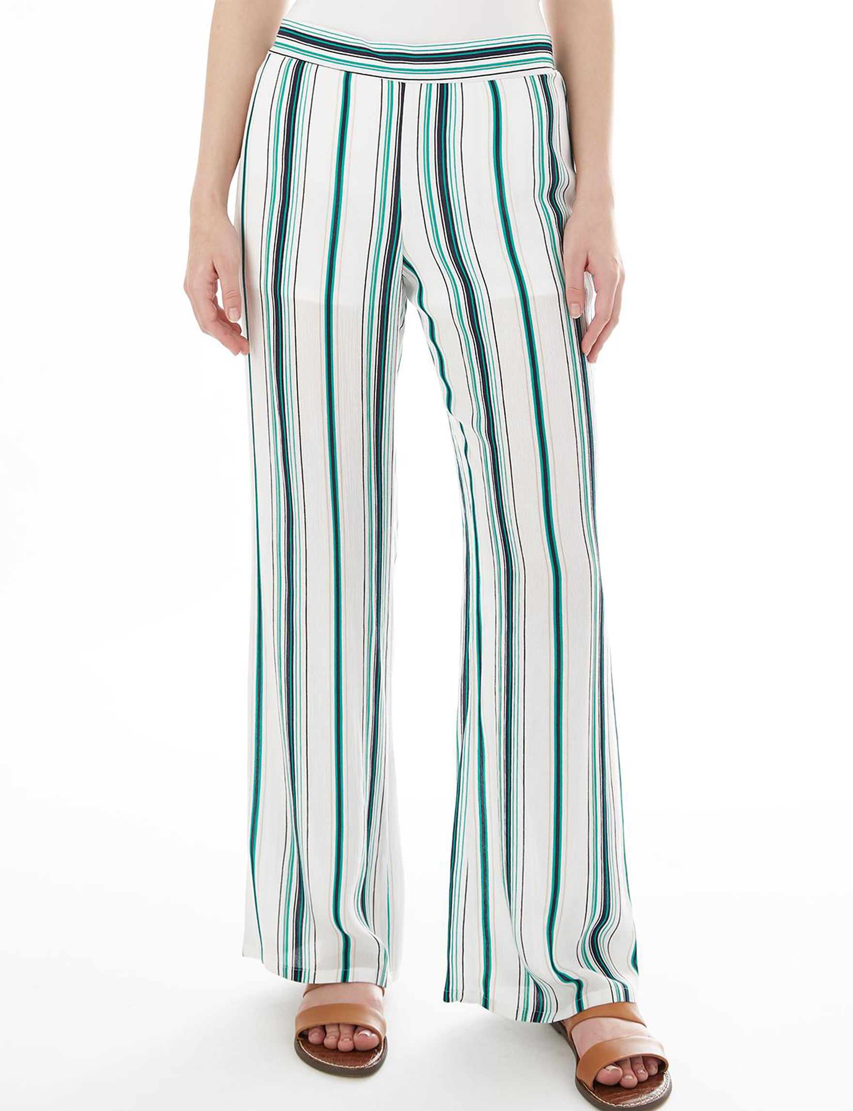 A. Byer Green Stripe Soft Pants