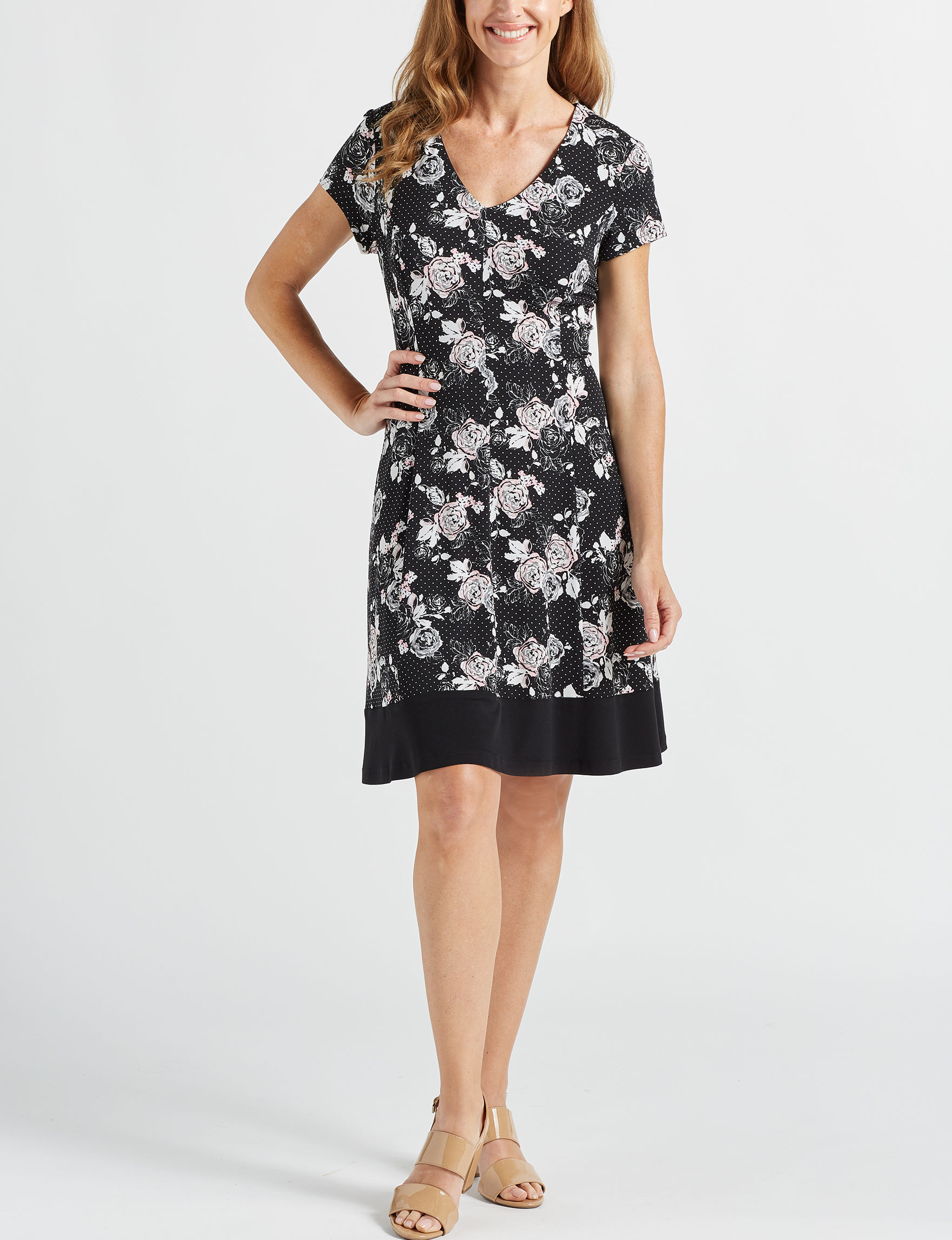 Connected Black Everyday & Casual Shift Dresses