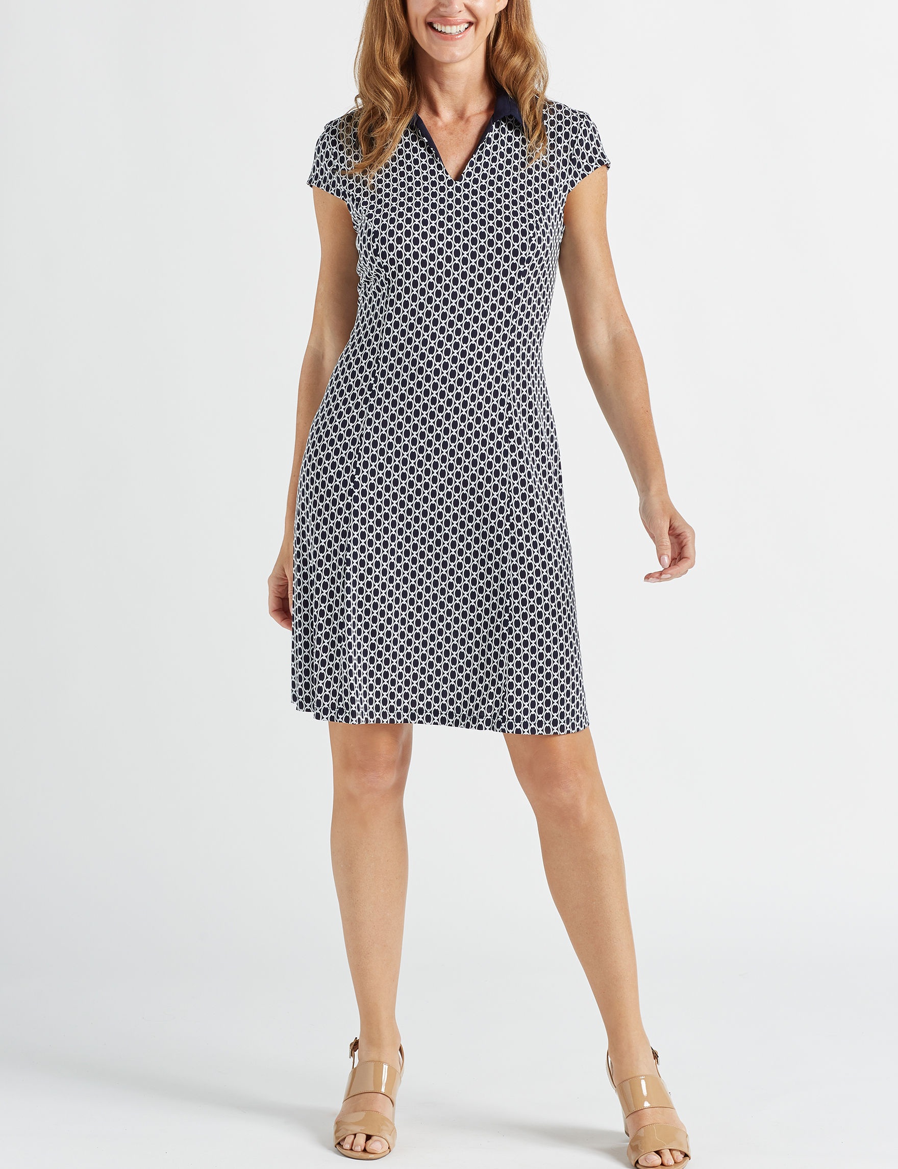 Connected Navy Everyday & Casual Sheath Dresses