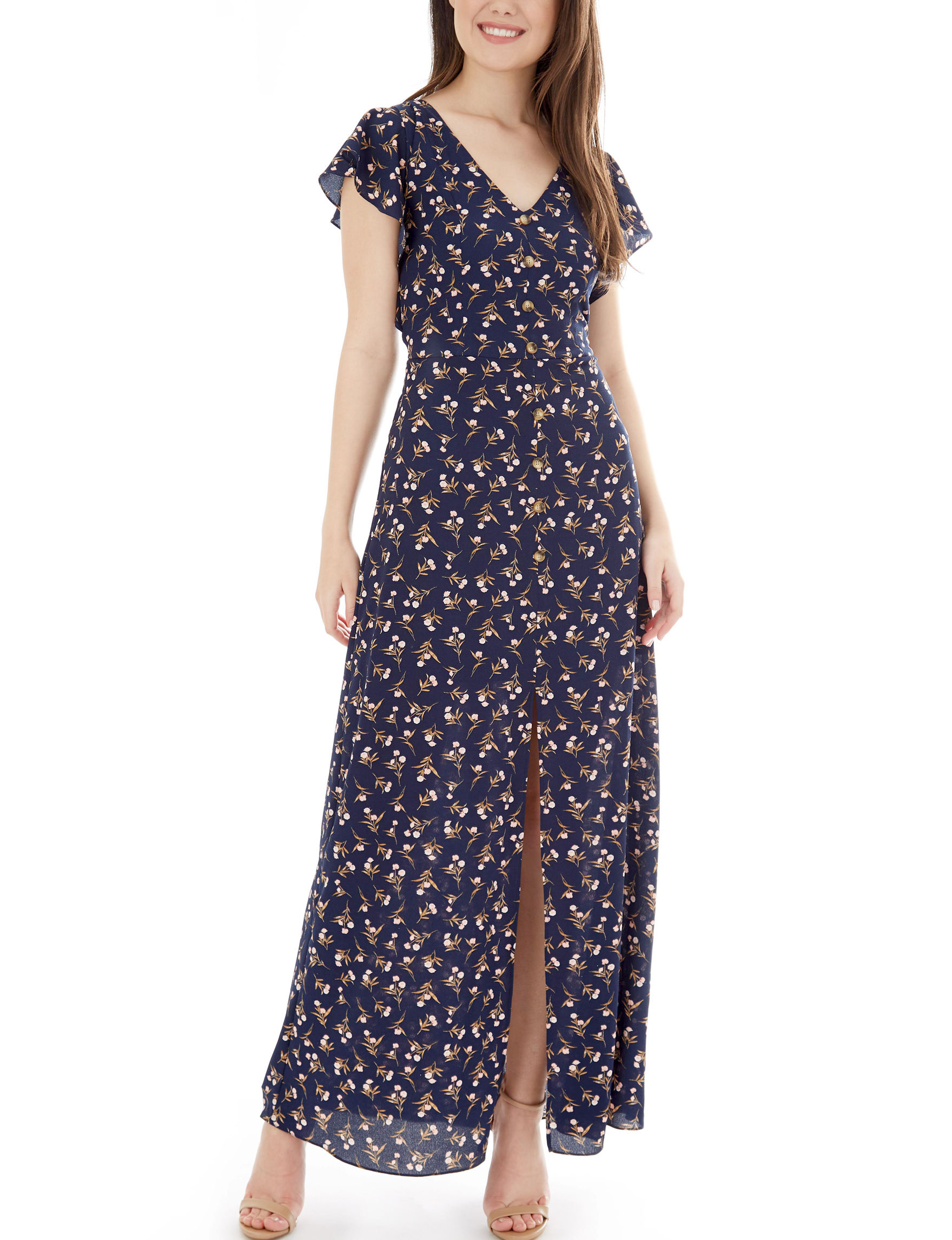 A. Byer Navy Everyday & Casual Maxi Dresses