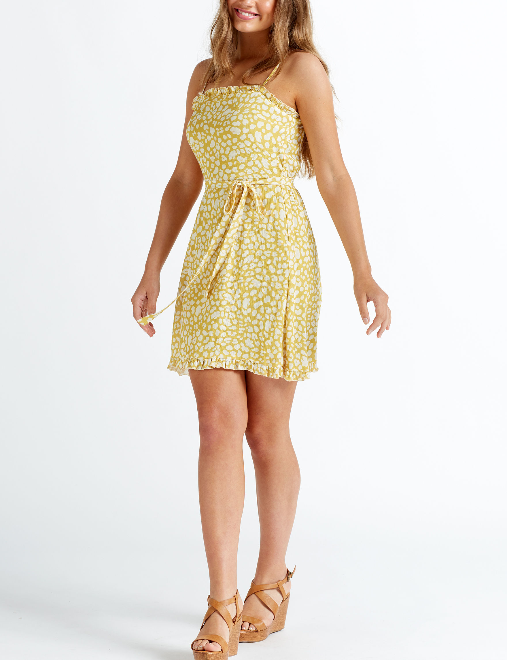 Trixxi Yellow Everyday & Casual Fit & Flare Dresses