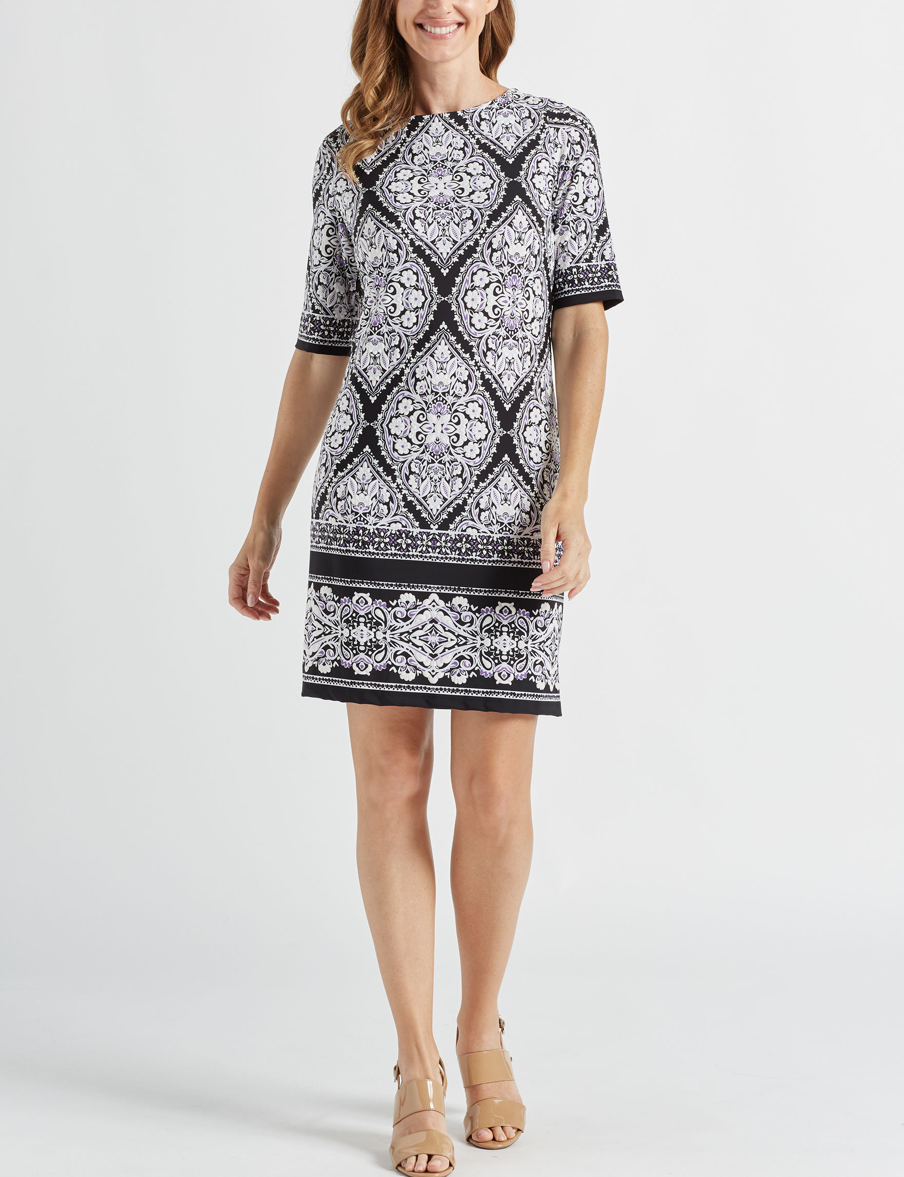Sandra Darren Black Everyday & Casual Shift Dresses