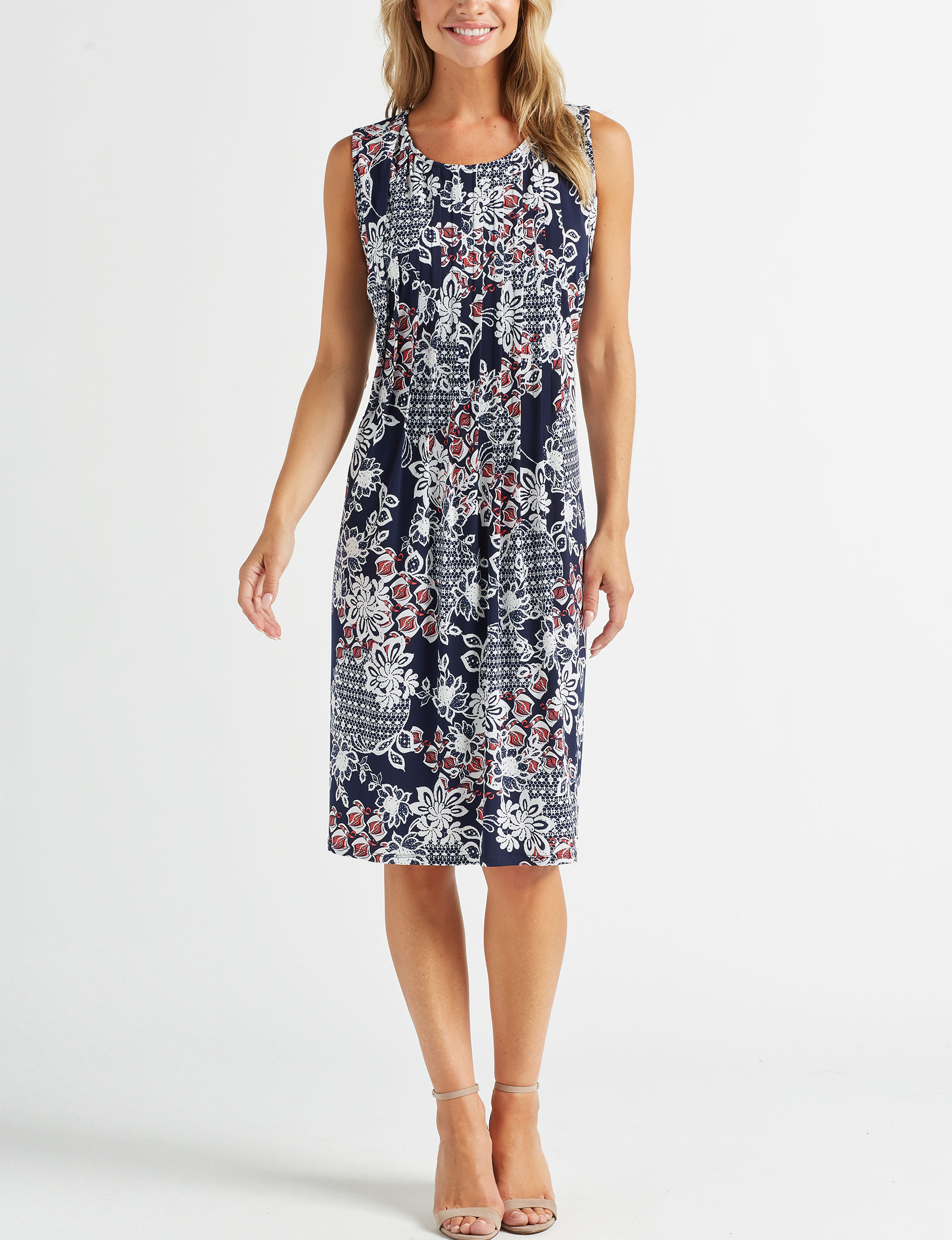 Glamour Navy / Multi Everyday & Casual Shift Dresses