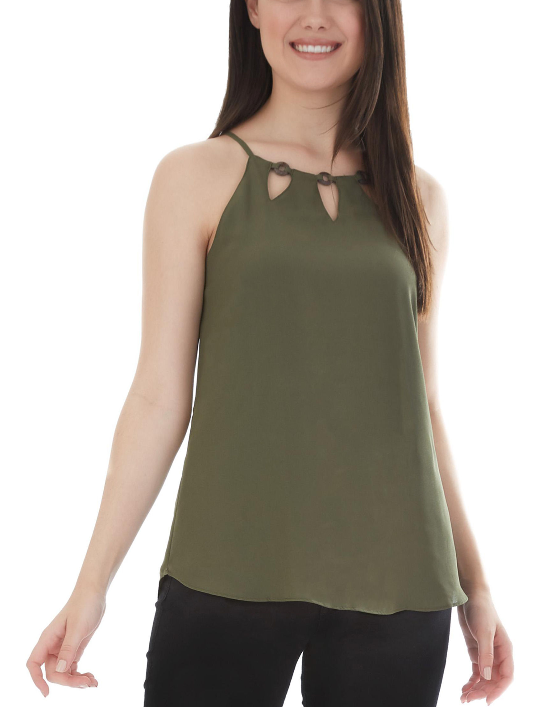 A. Byer Olive Shirts & Blouses