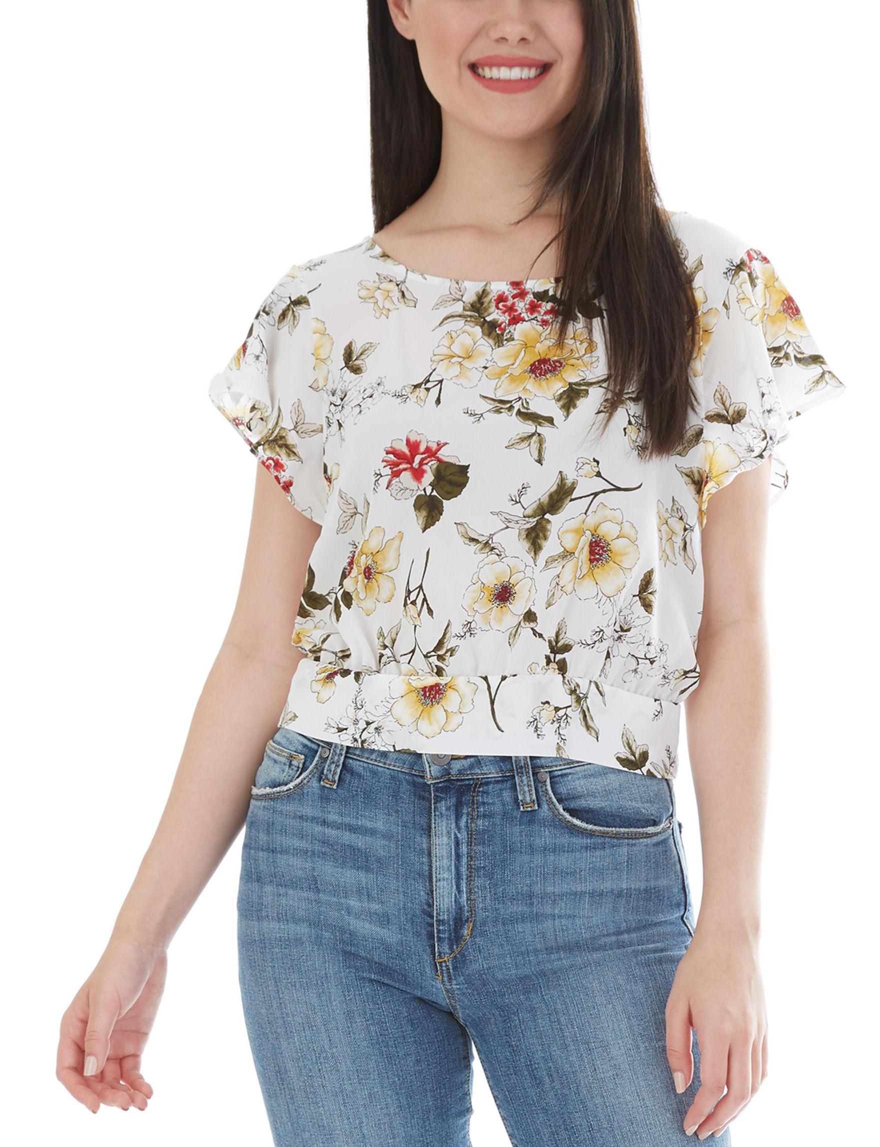 A. Byer White / Multi Shirts & Blouses