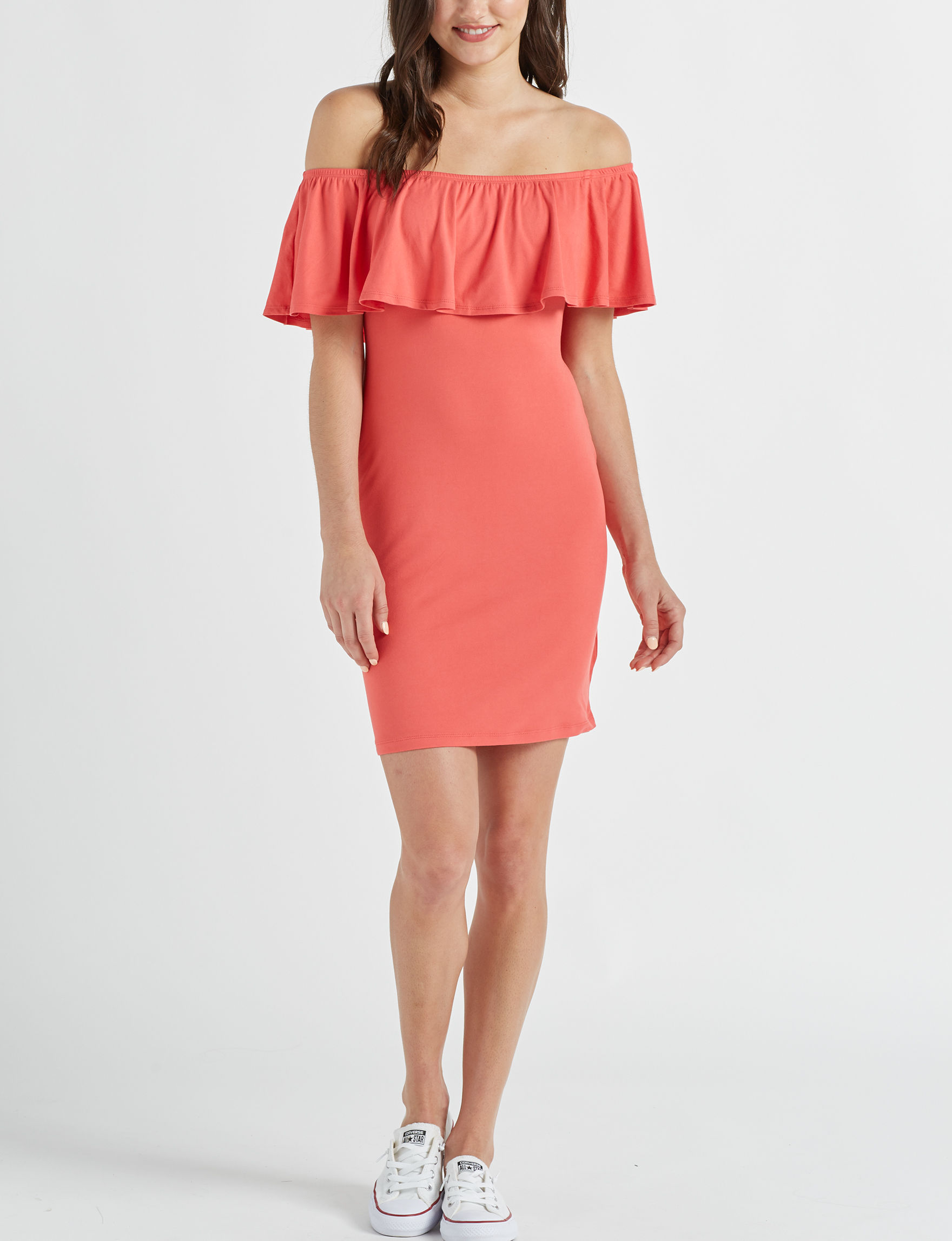 Wishful Park Coral Cocktail & Party Everyday & Casual Bodycon Dresses