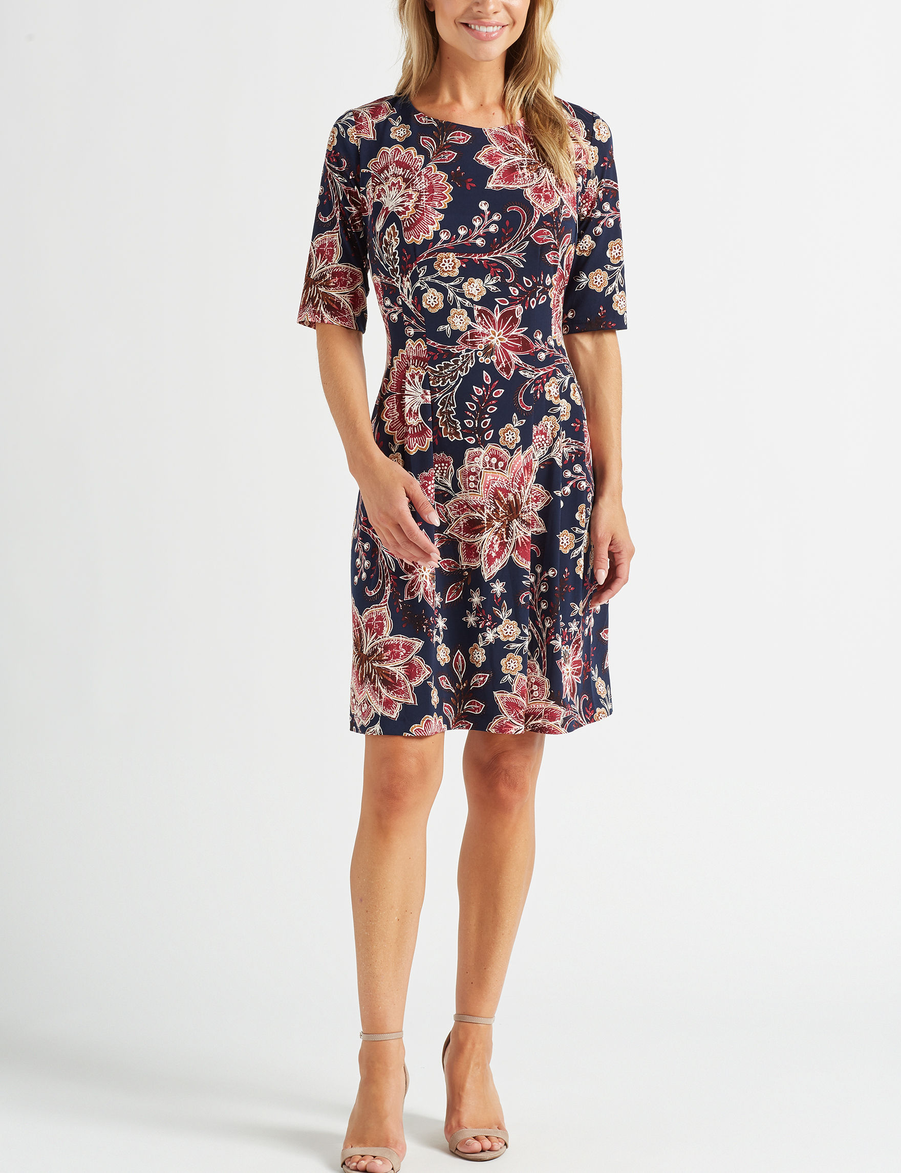 Connected Pink Floral Everyday & Casual A-line Dresses