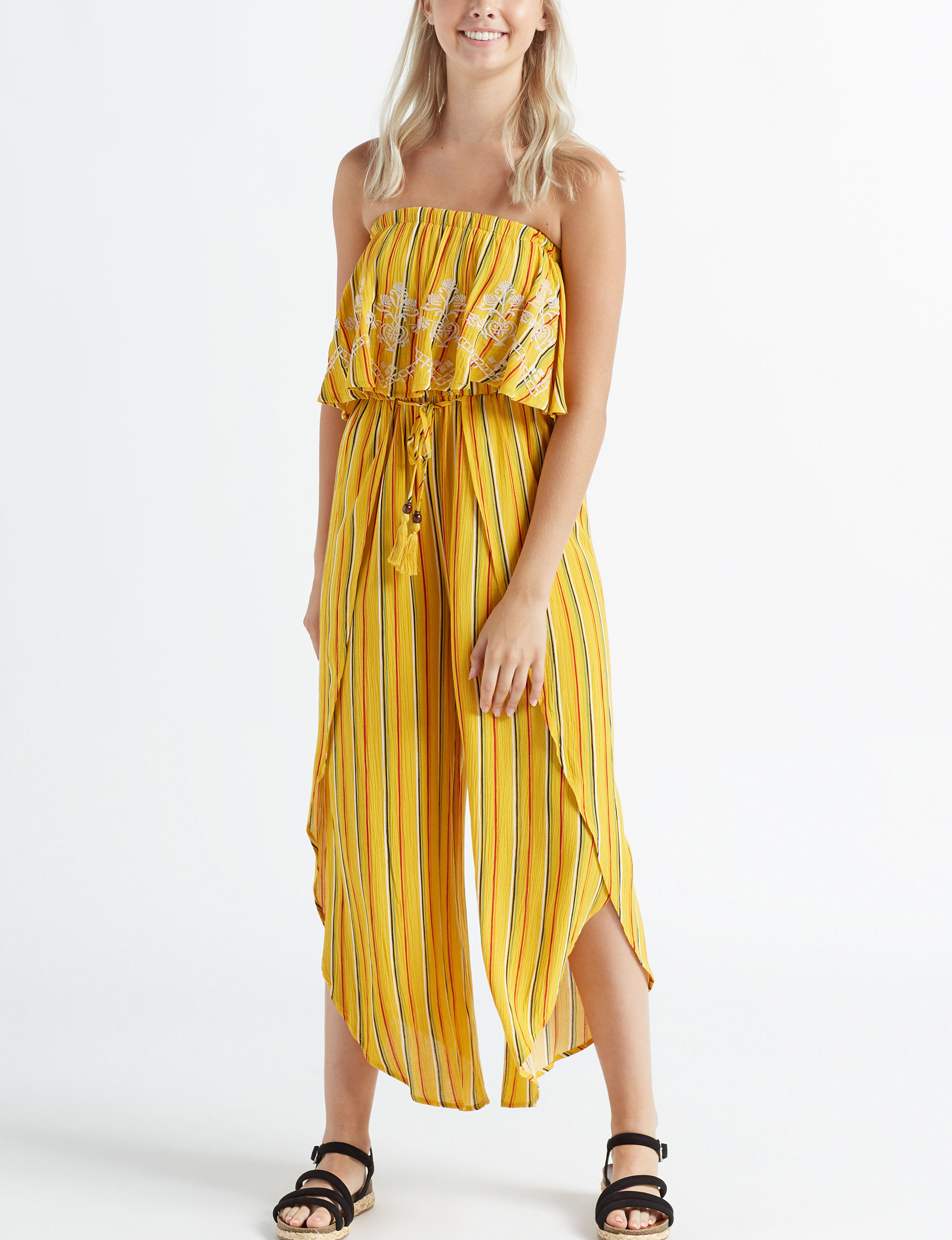 Taylor & Sage Mustard Multi Everyday & Casual Strapless