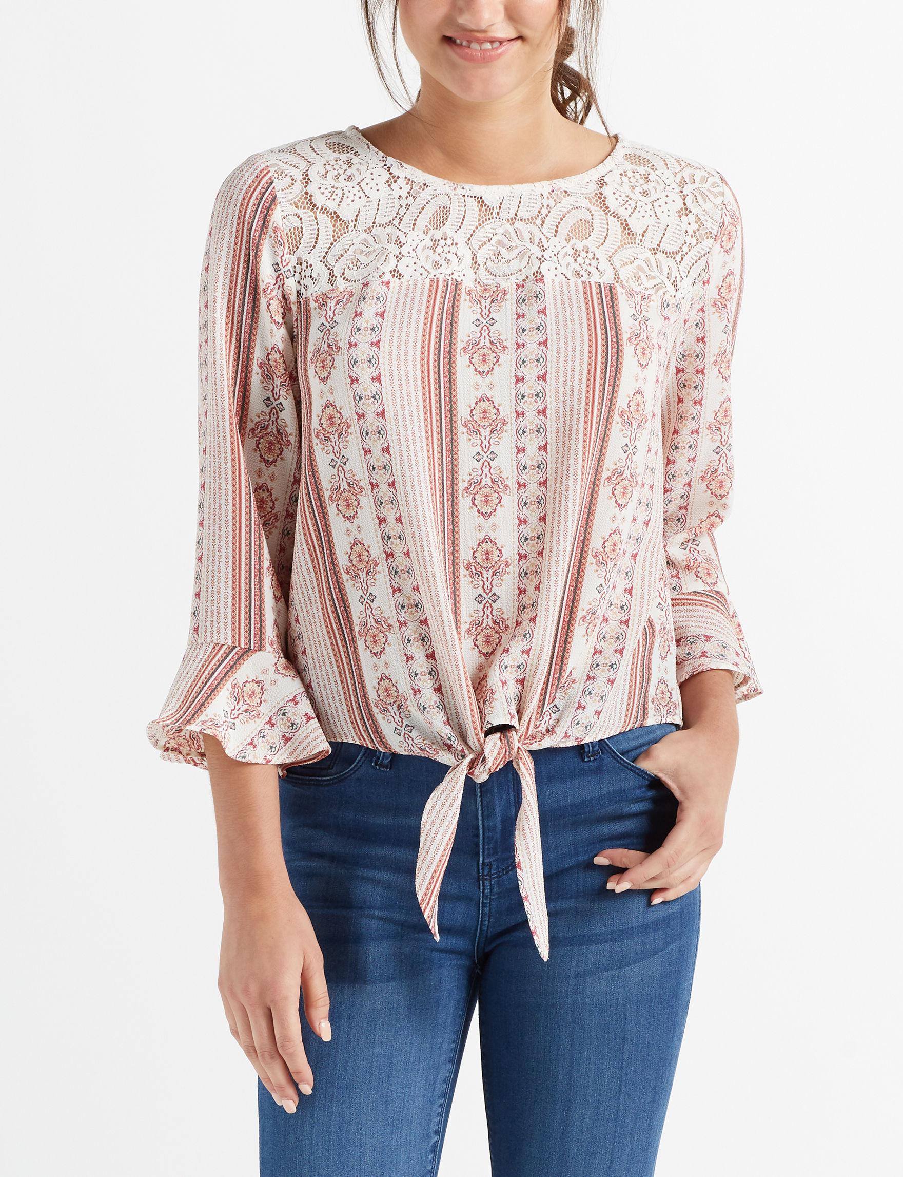 Leighton White Shirts & Blouses