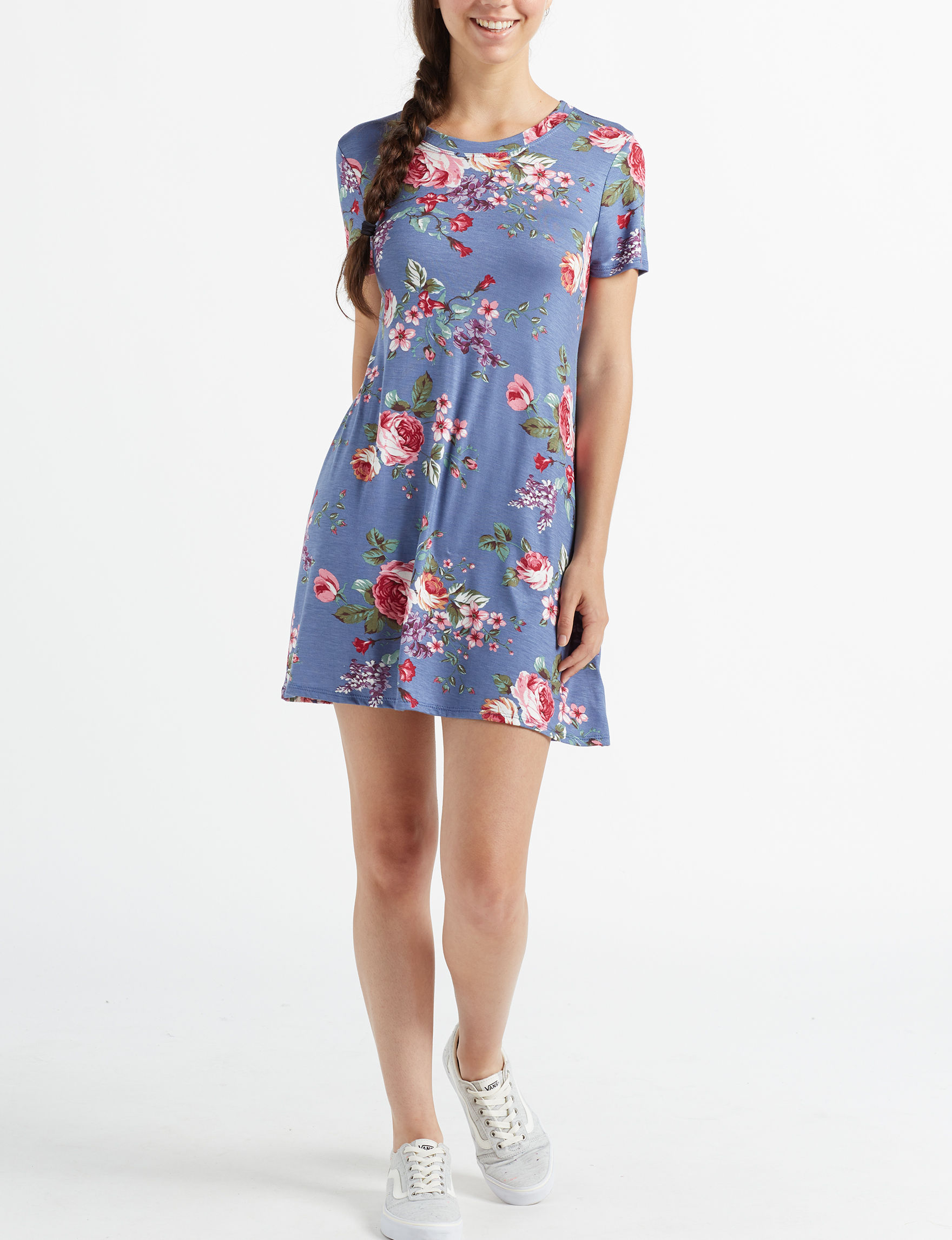 Poof Blue Everyday & Casual Shift Dresses